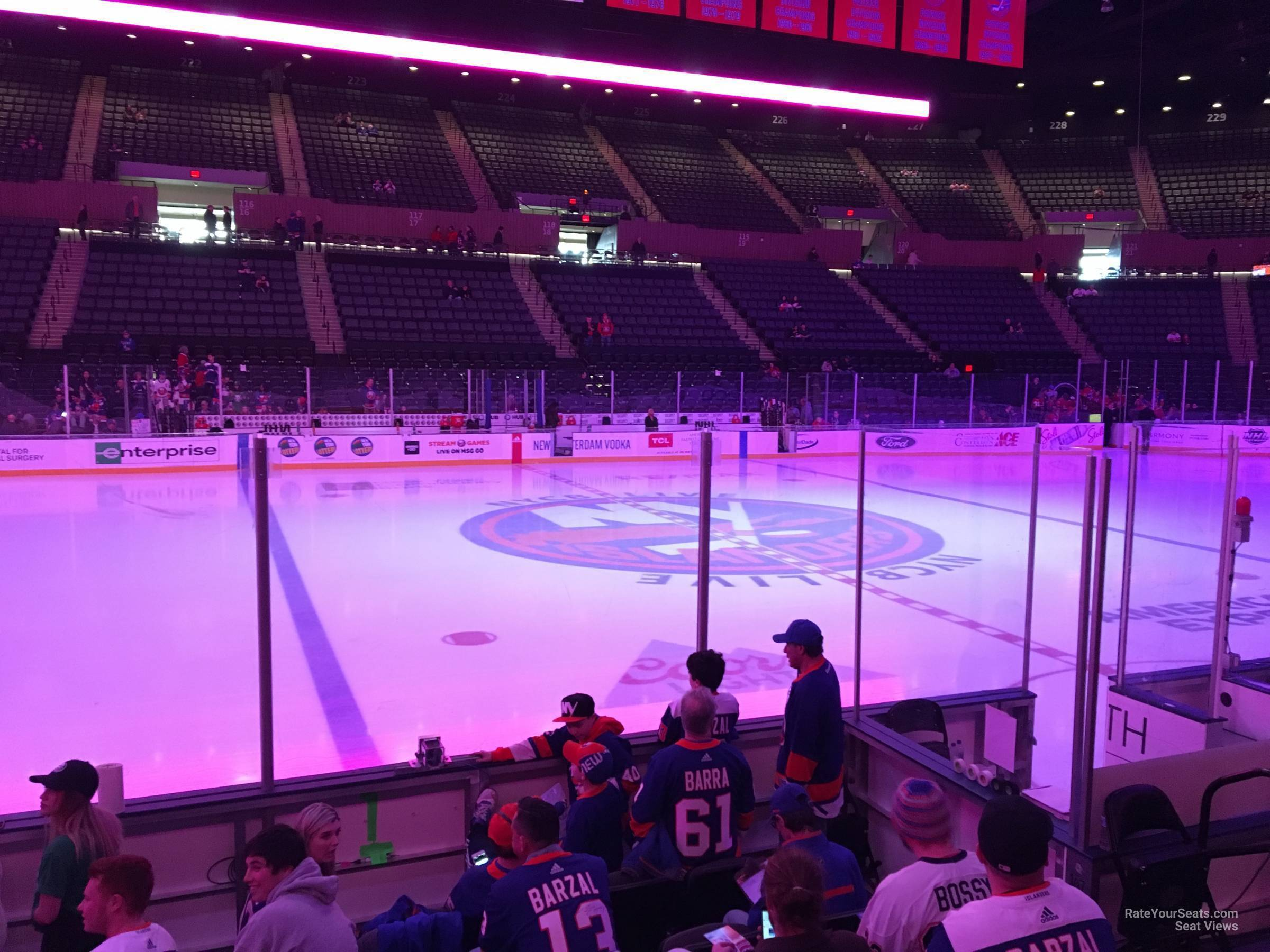 Seat View for Nassau Coliseum Section 4, Row 5