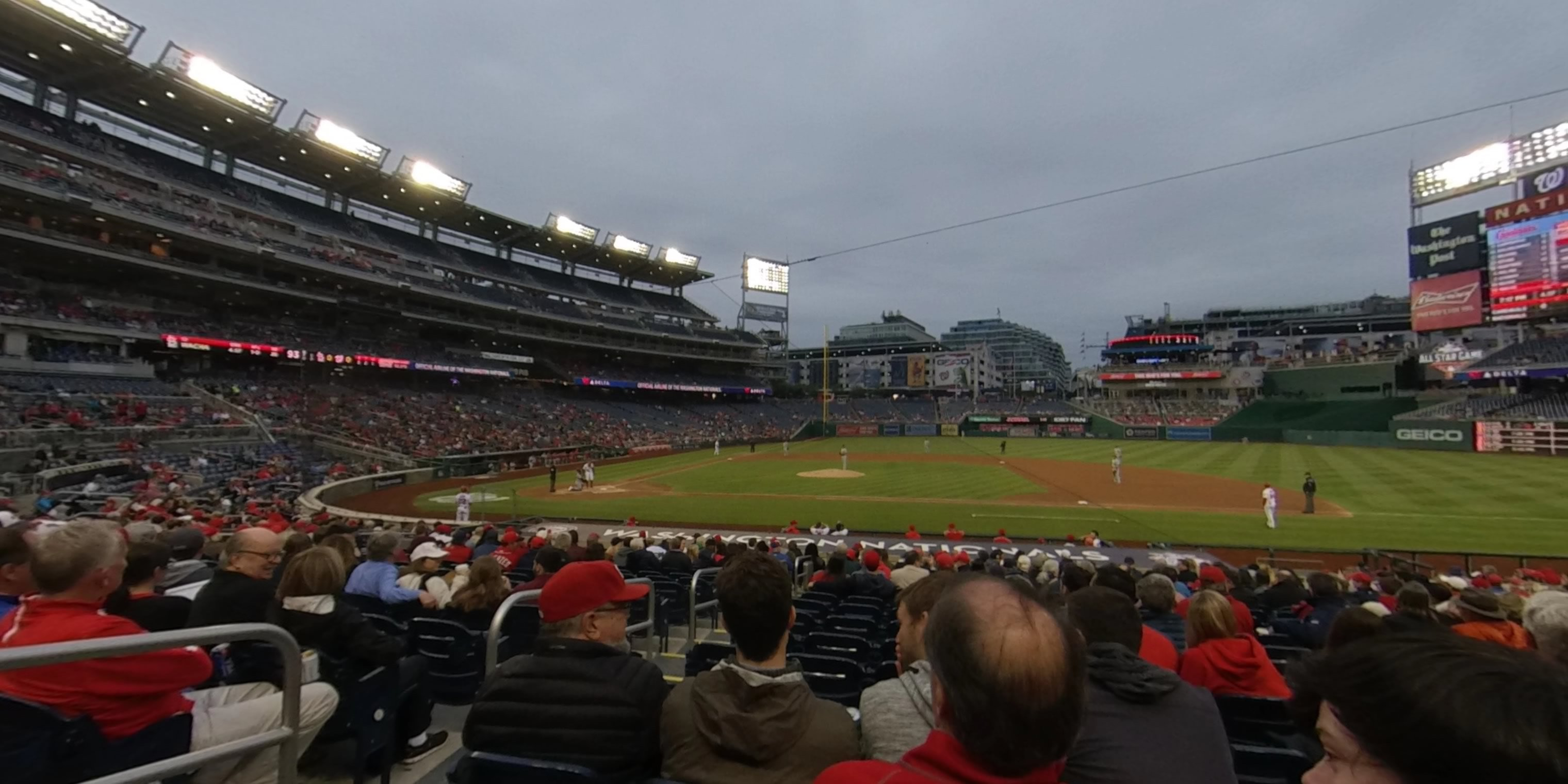 360° Photo From Nationals Park Section 129