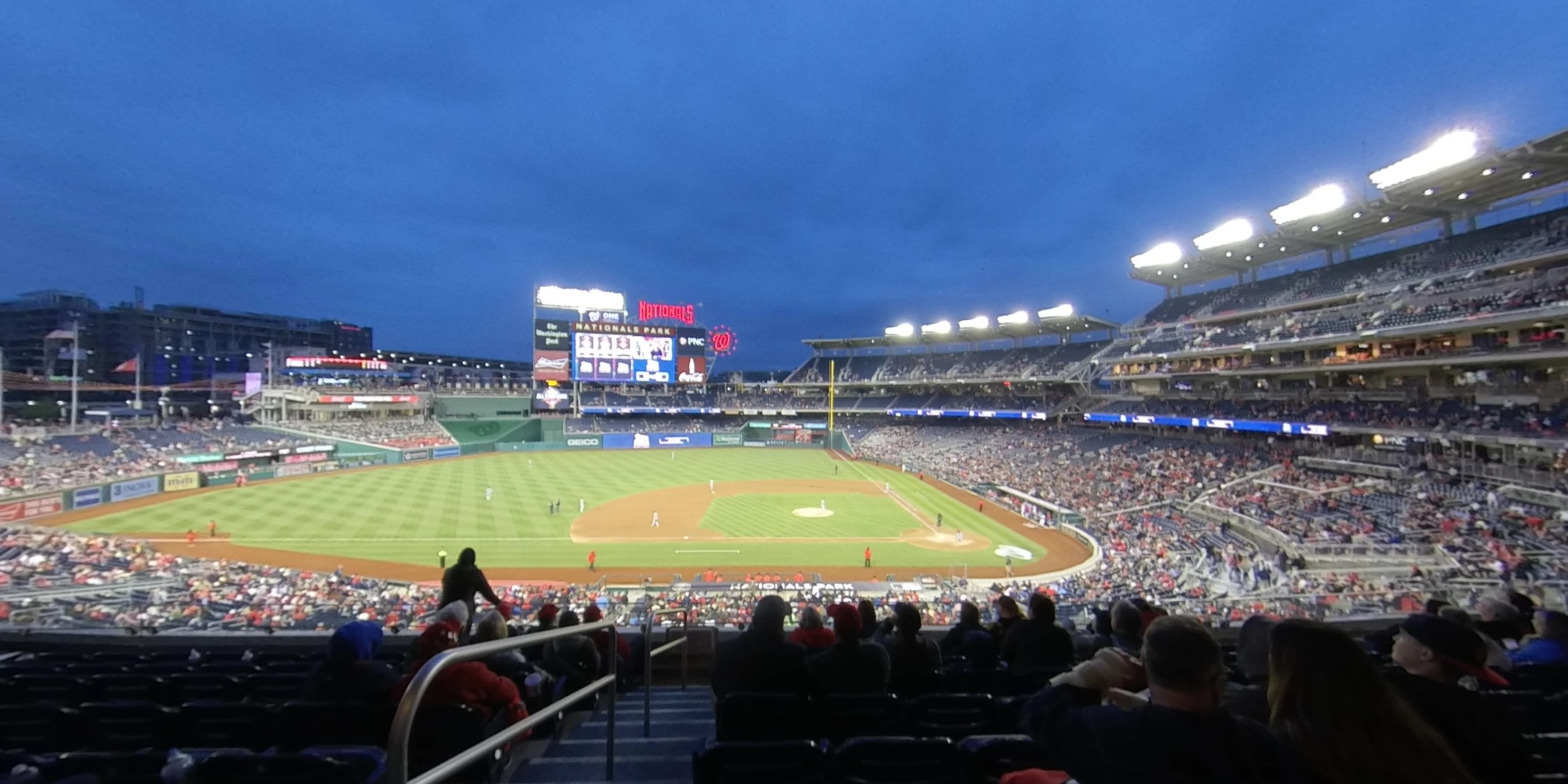 360° Photo From Nationals Park Section 208