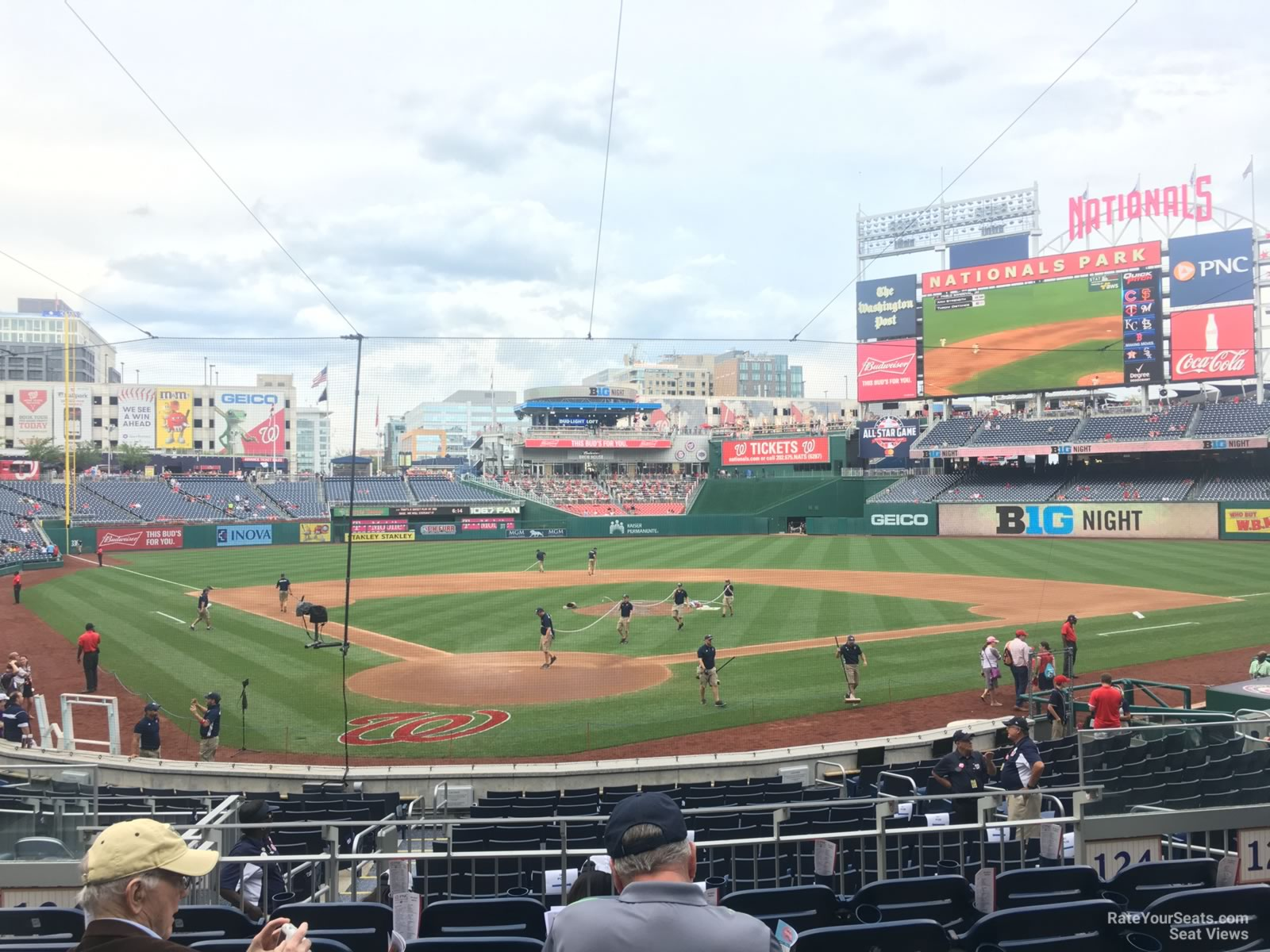 Seat View for Nationals Park Section 124, Row F