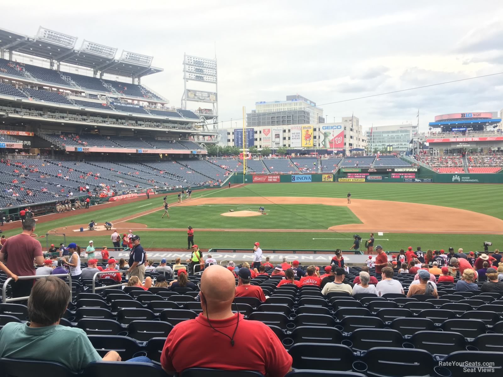 Seat View for Nationals Park Section 129, Row HH