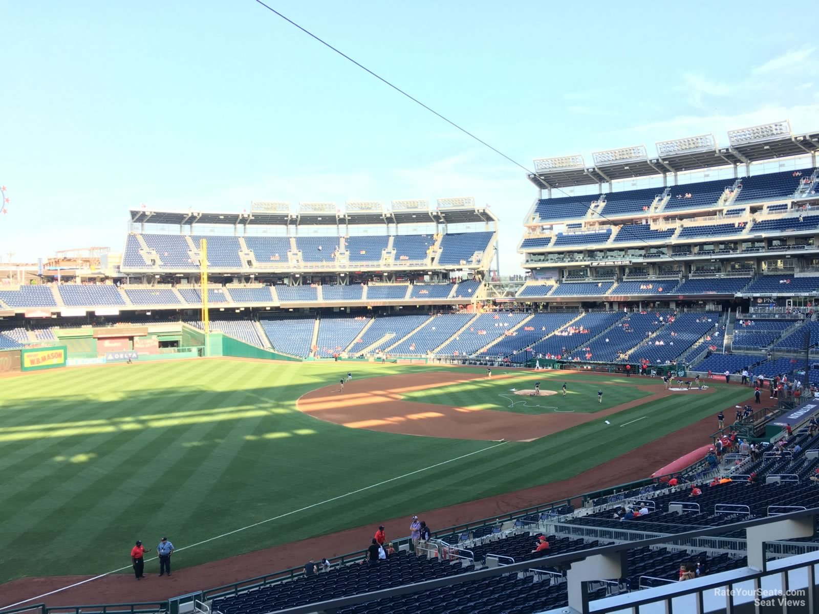 Seat View for Nationals Park Section 203, Row B