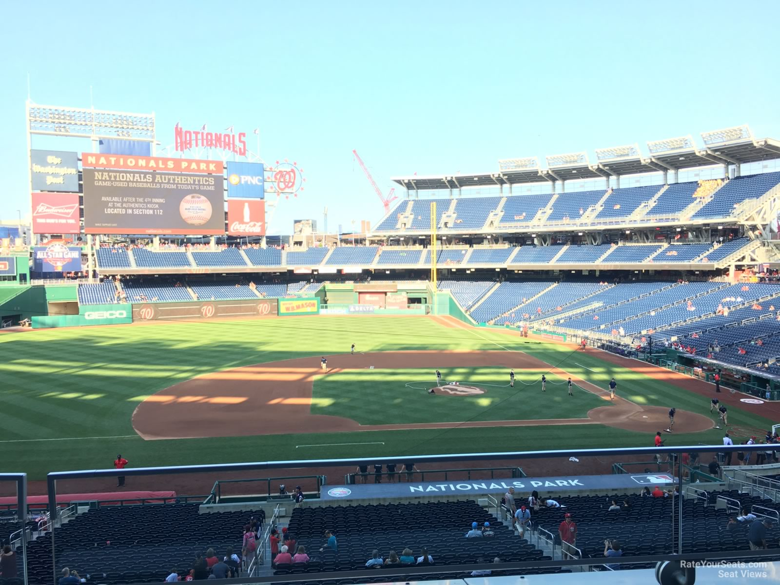 Seat View for Nationals Park Section 208, Row B
