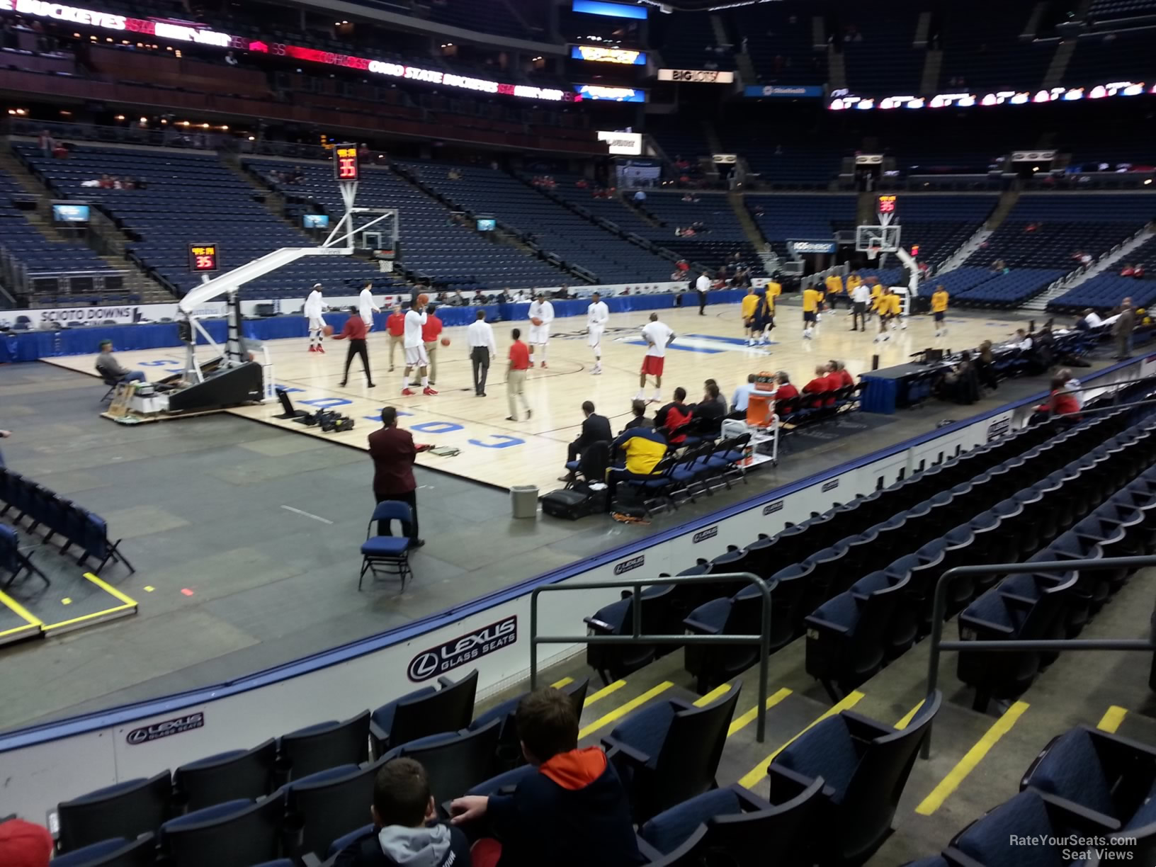 Basketball Seat View for Nationwide Arena Section 106, Row G