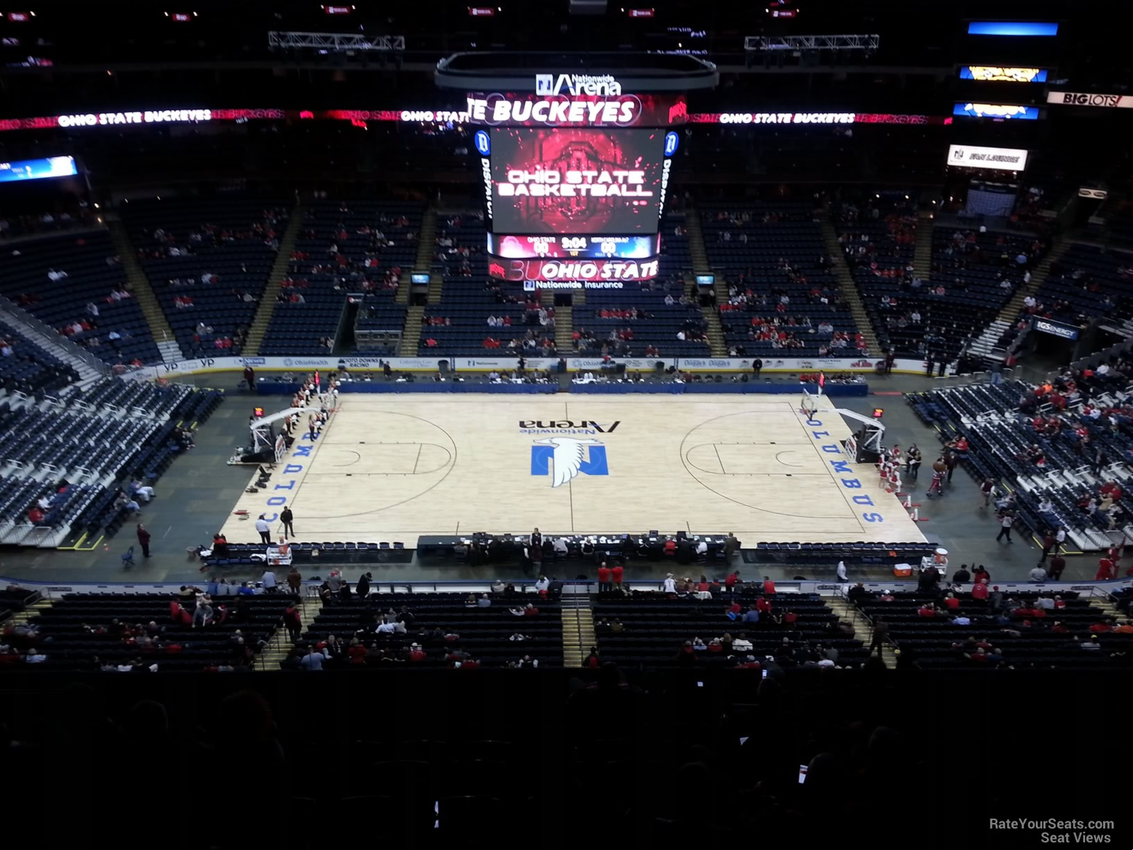 Basketball Seat View for Nationwide Arena Section 203, Row G