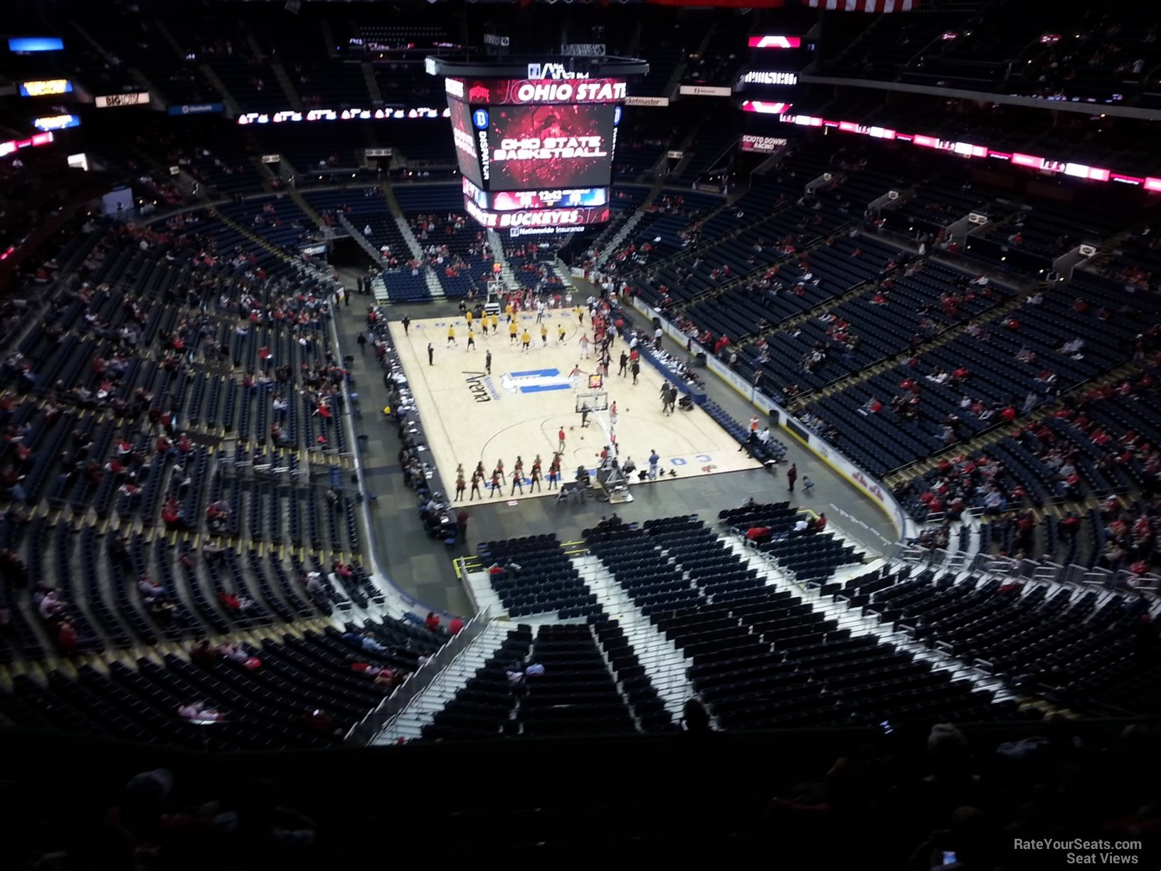 Basketball Seat View for Nationwide Arena Section 211, Row G