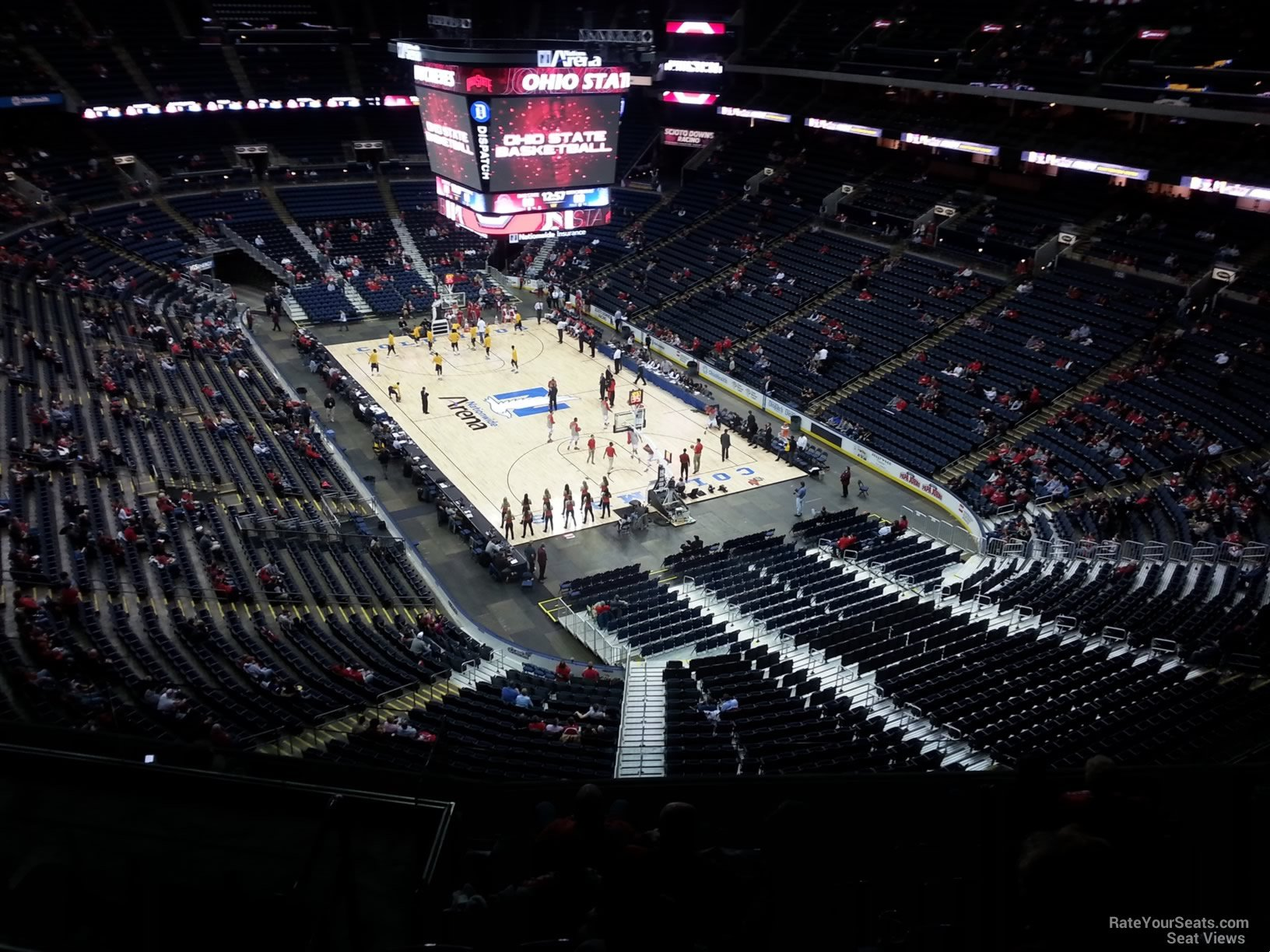 Basketball Seat View for Nationwide Arena Section 212, Row G