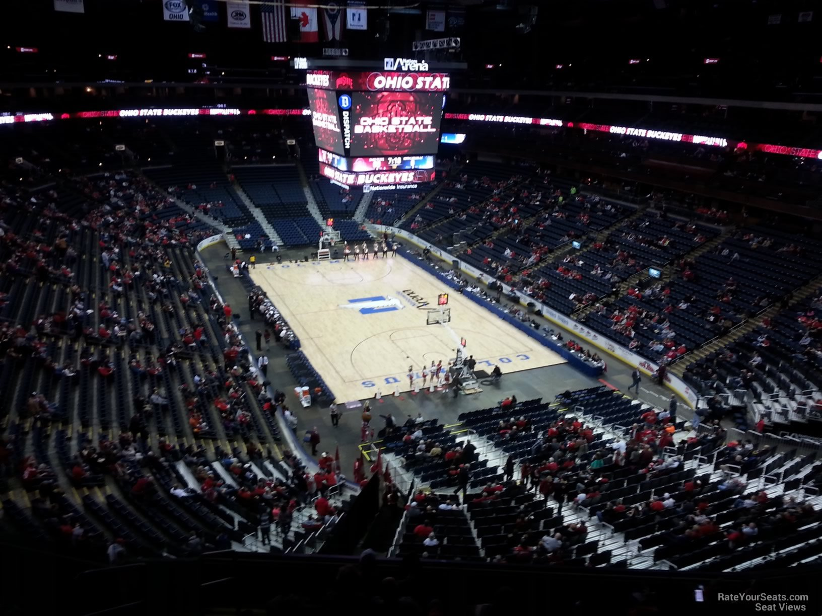 Basketball Seat View for Nationwide Arena Section 226, Row G