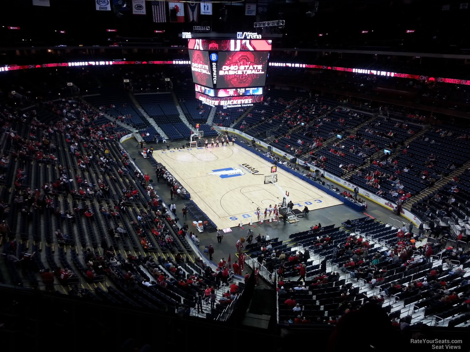 Basketball Seat View for Nationwide Arena Section 227, Row G