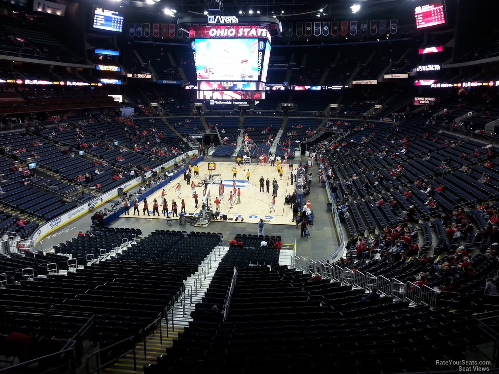 Basketball Seat View for Nationwide Arena Section CL11