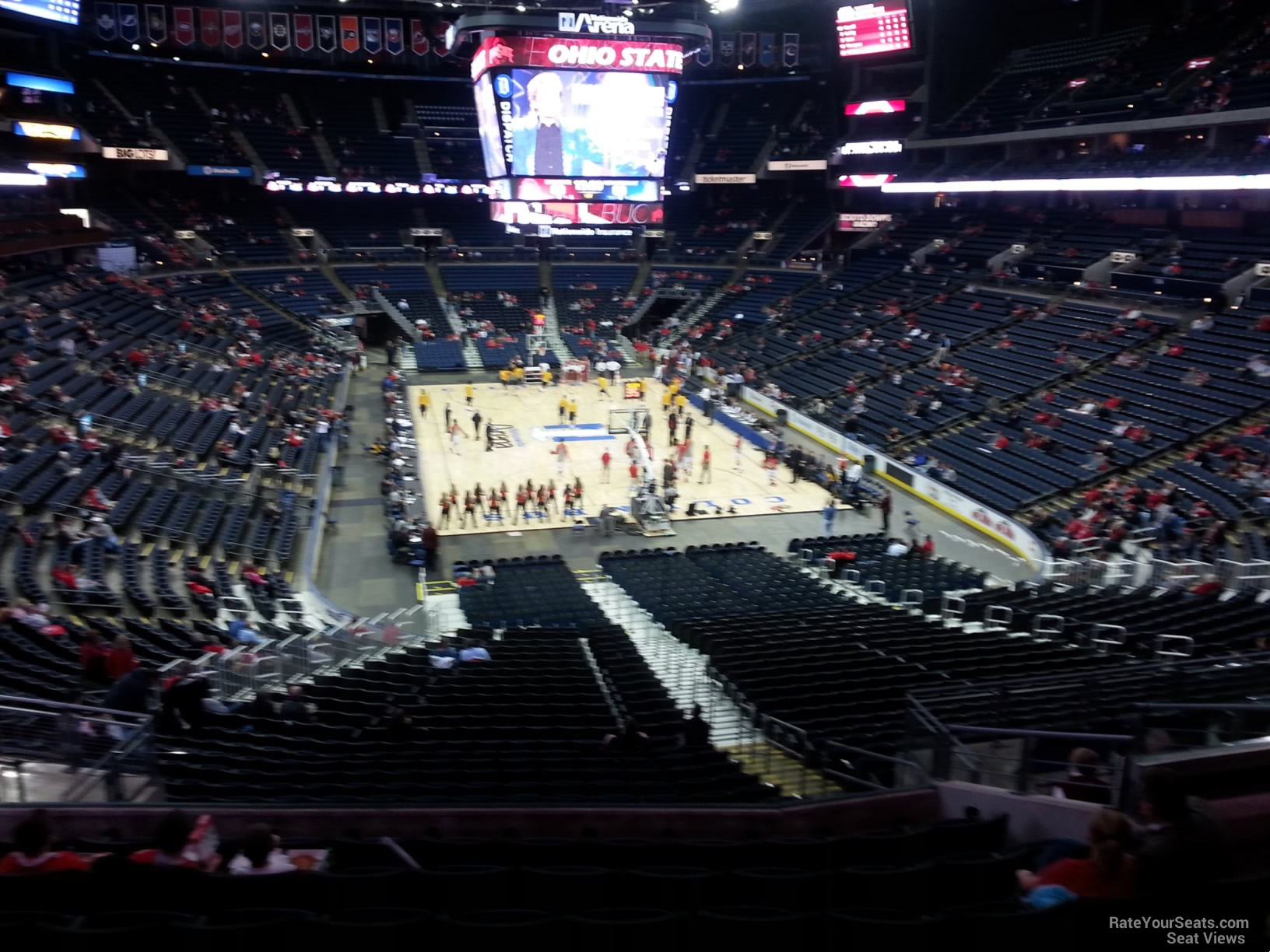 Basketball Seat View for Nationwide Arena Section CL13