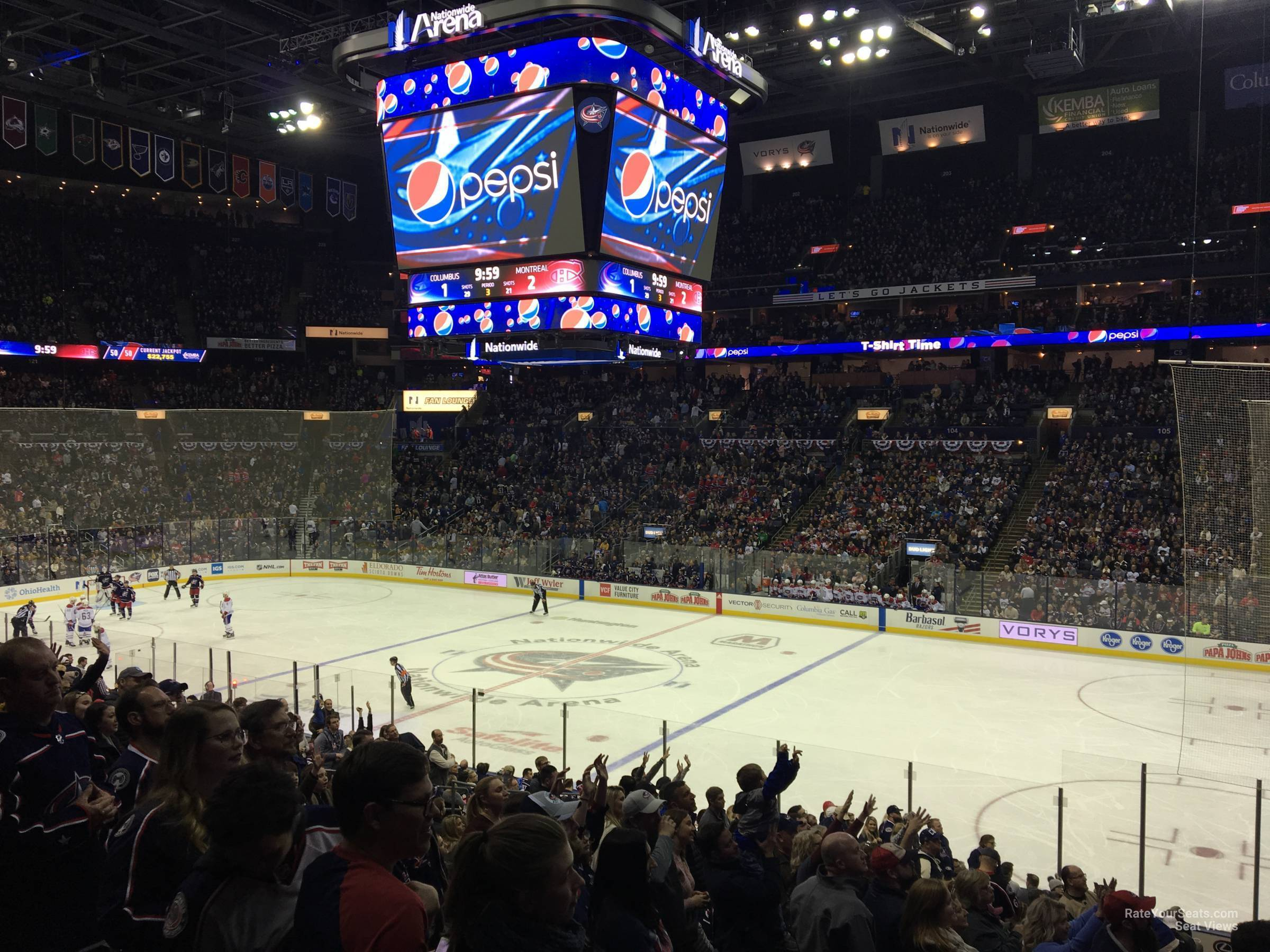Nationwide Arena Section 112 - Columbus Blue Jackets ...