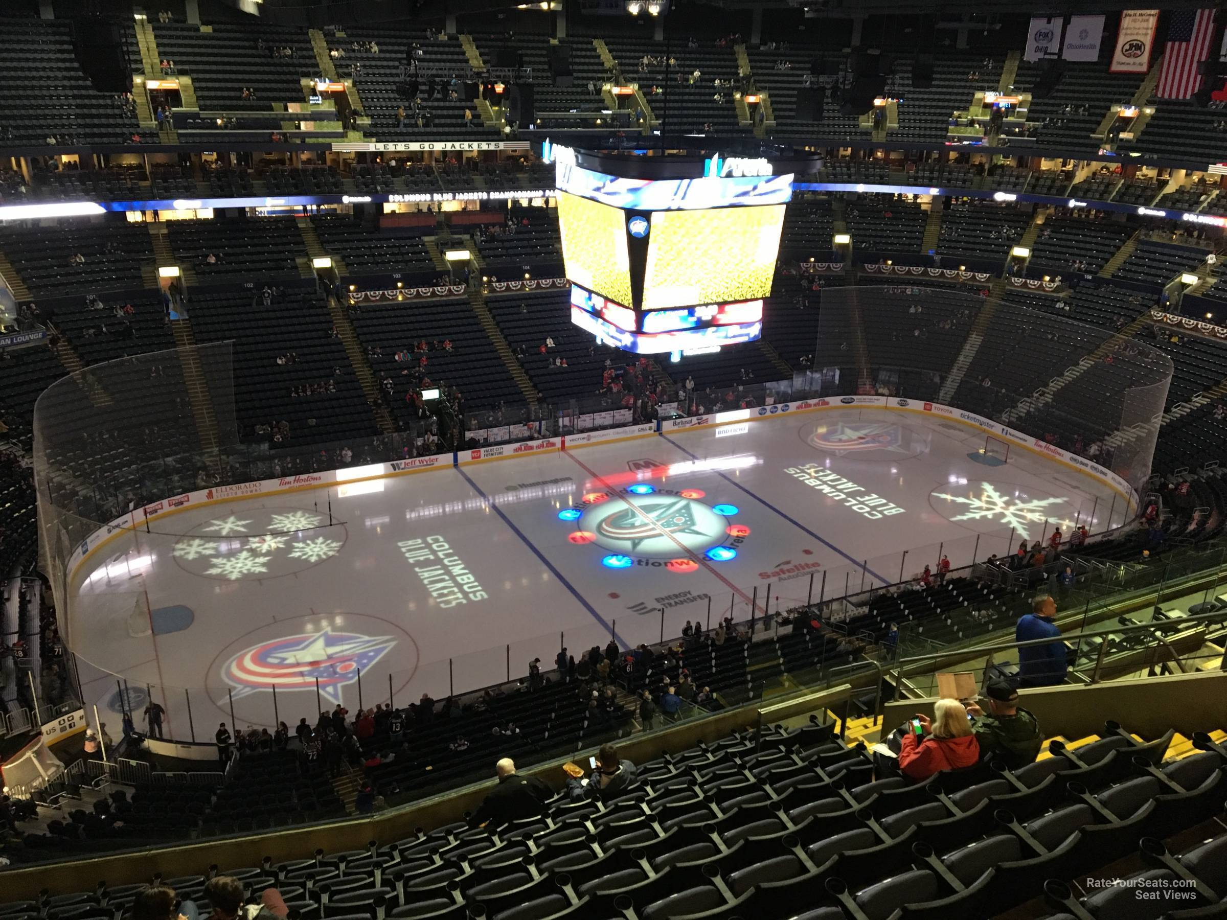 Columbus Blue Jackets Seat View for Nationwide Arena Section 219, Row M