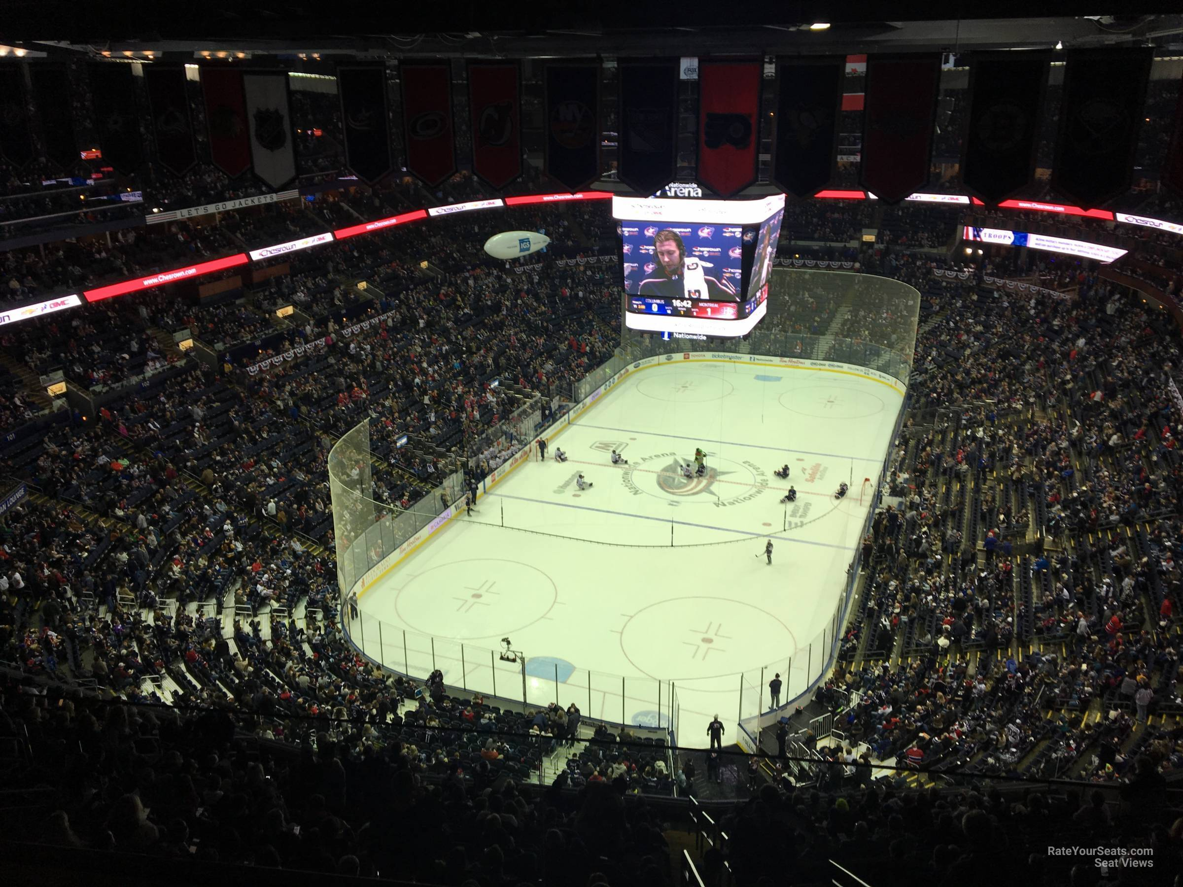 Columbus Blue Jackets Seat View for Nationwide Arena Section 303, Row A