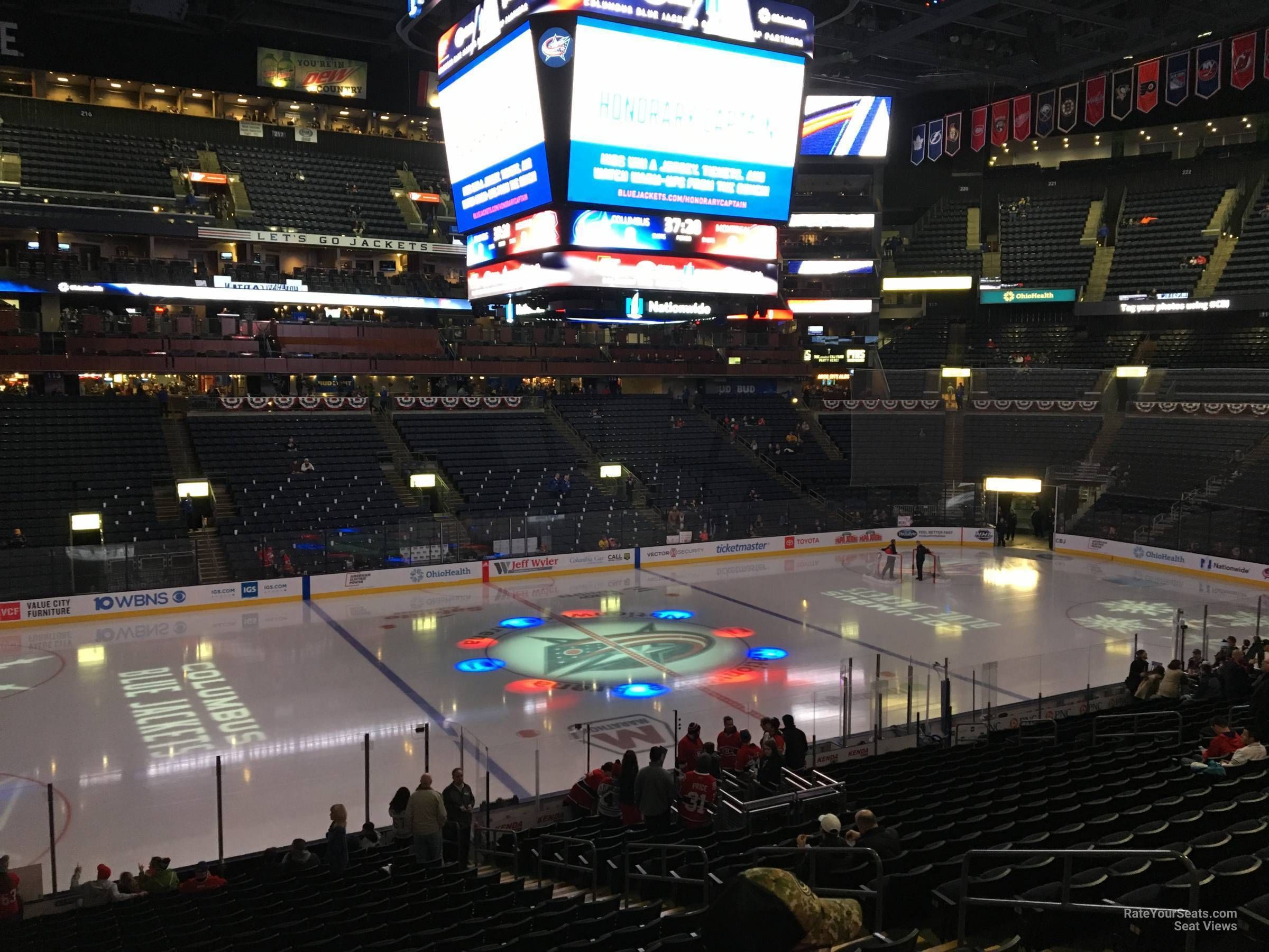 Columbus Blue Jackets Seat View for Nationwide Arena Club 5, Row A