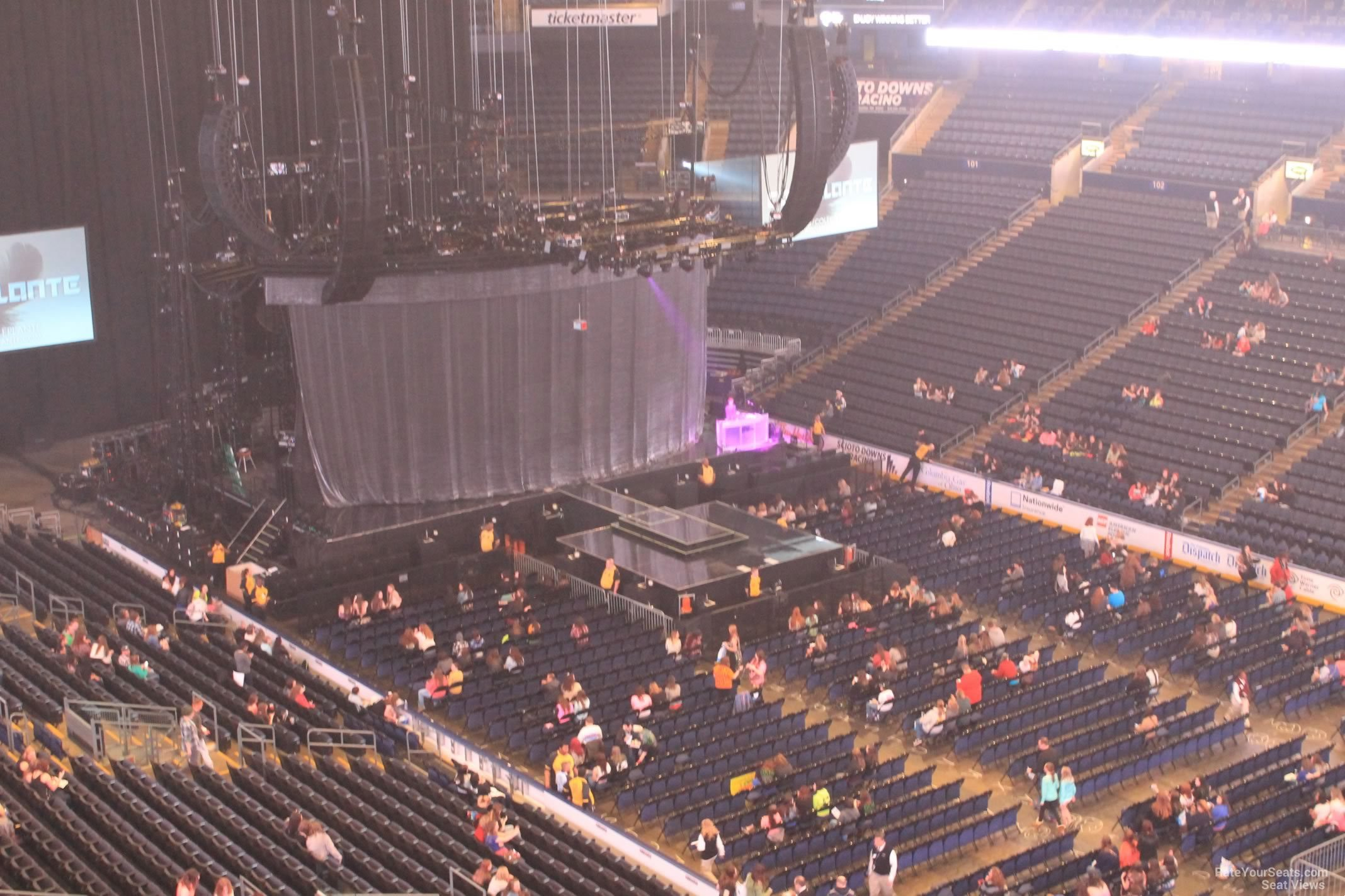 Concert Seat View For Nationwide Arena Section 215 Row C