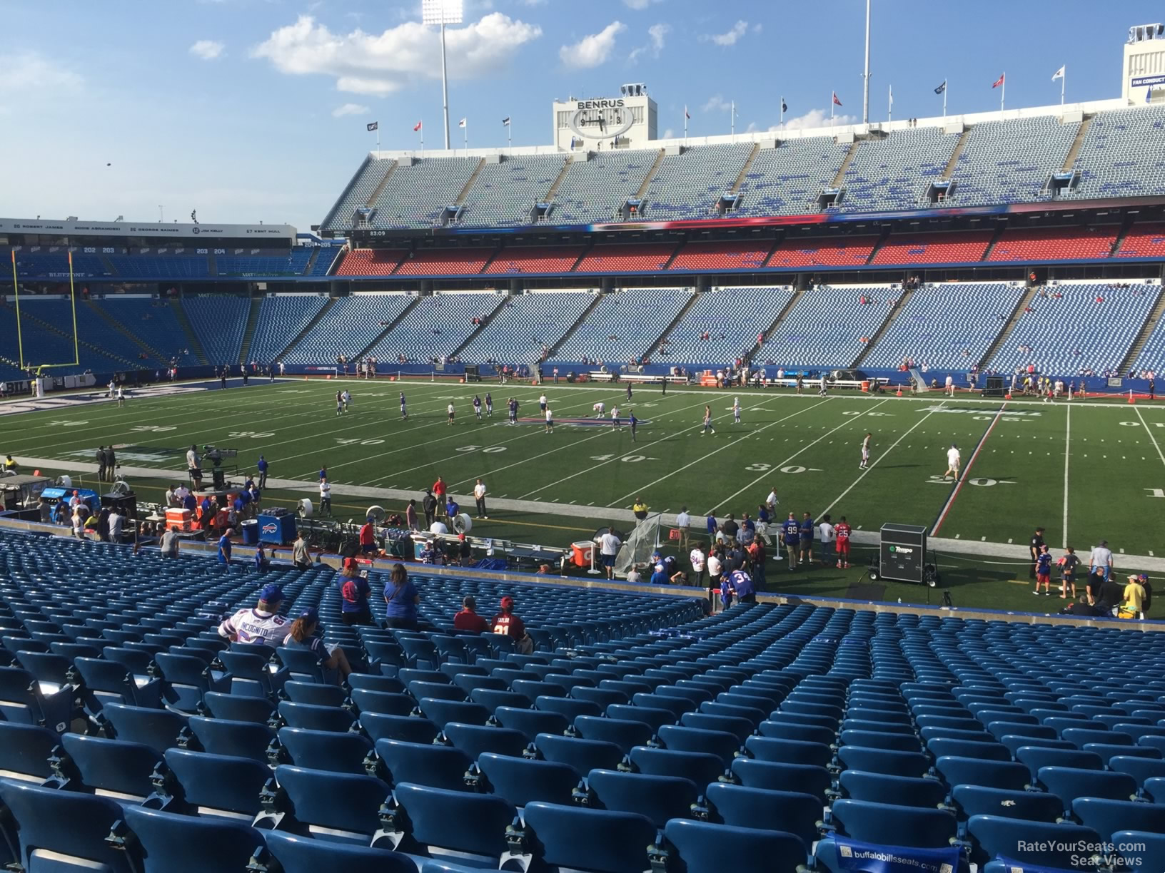 Seat View for New Era Field Section 131, Row 30