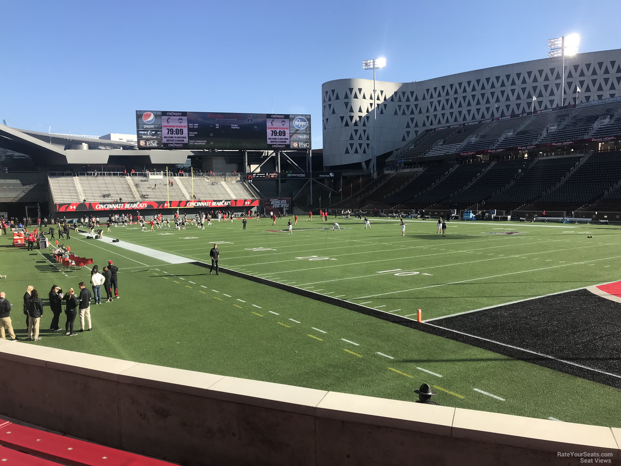 Cincinnati Bearcats Seat View for Nippert Stadium Section 117, Row 15