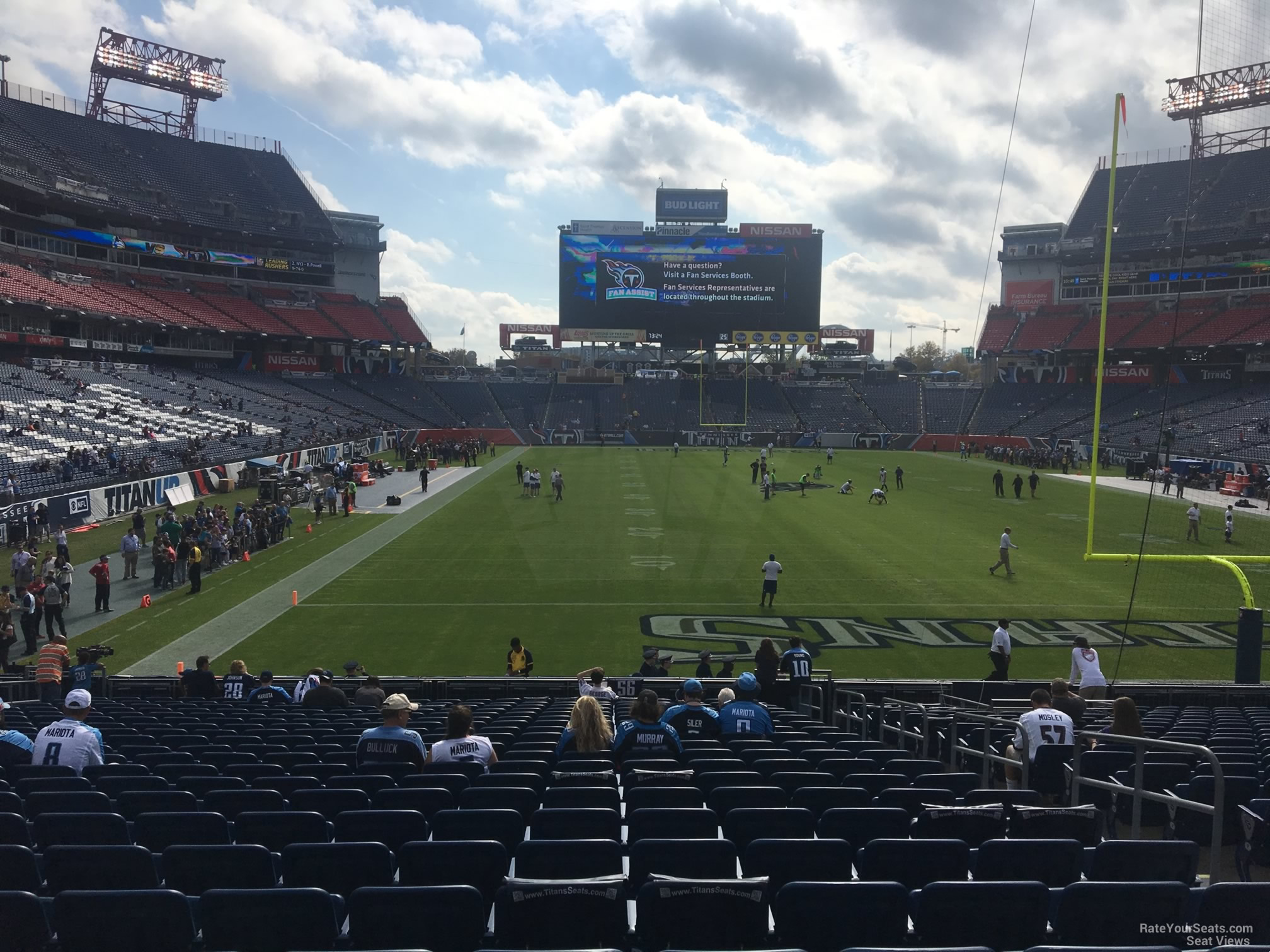 Seat View for Nissan Stadium Section 102, Row AA