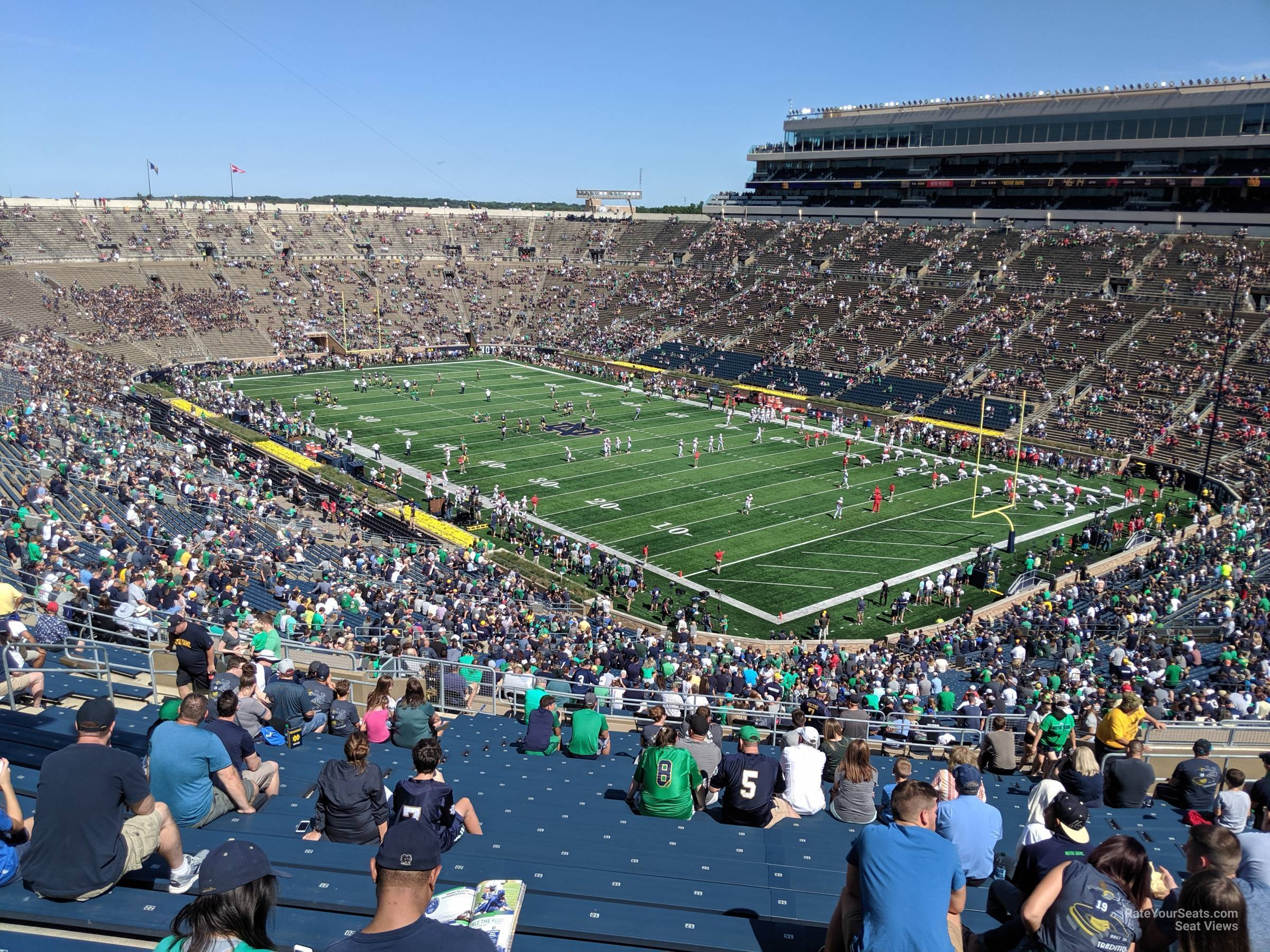 Notre Dame Stadium Section 123 - RateYourSeats.com