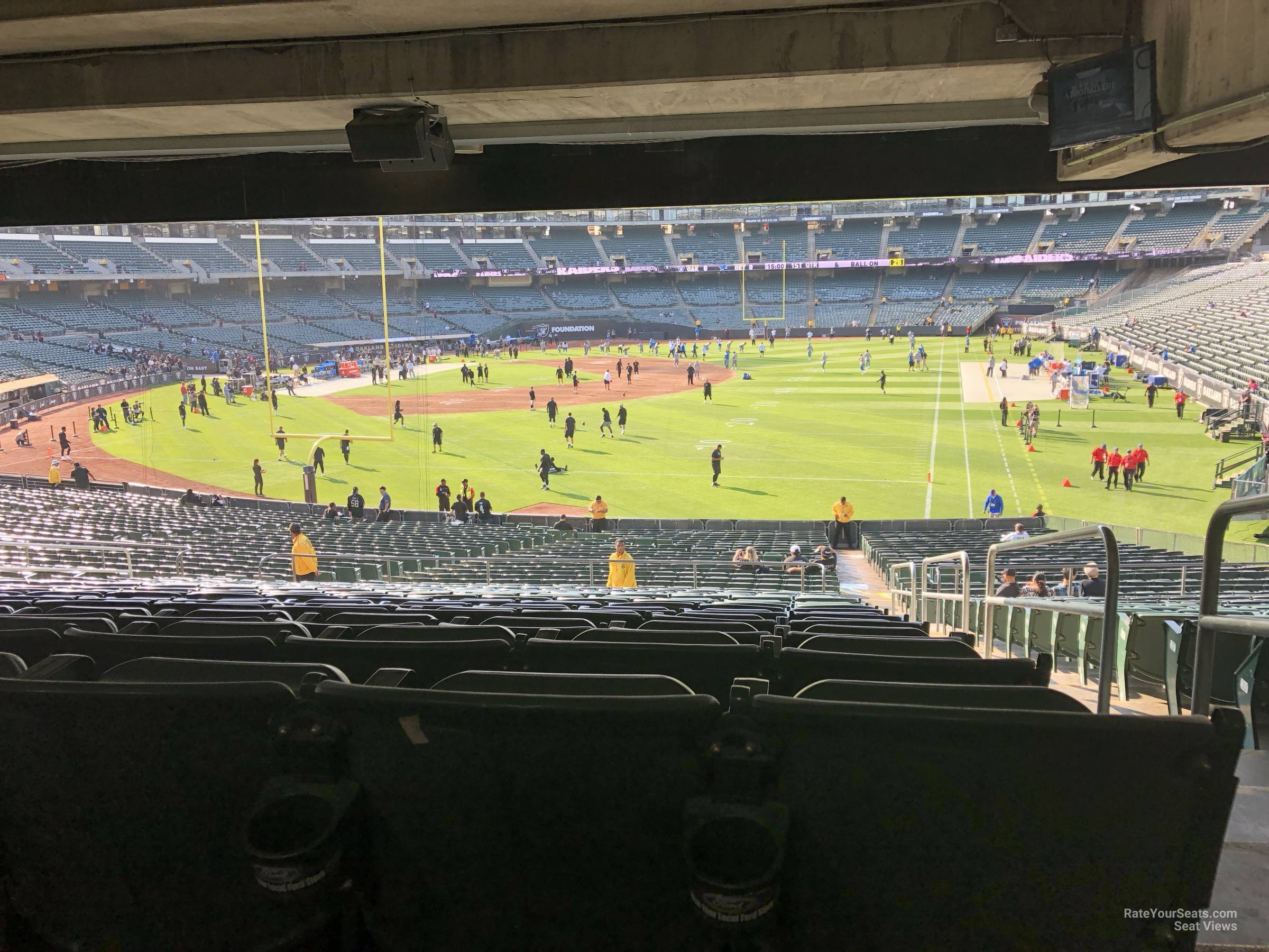 Oakland Raiders Seat View for Oakland Coliseum Section 104, Row 37