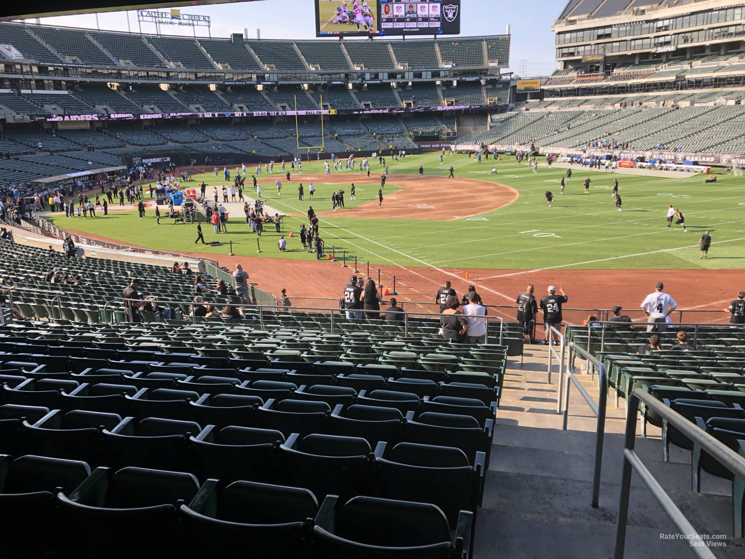 Oakland Raiders Seat View for RingCentral Coliseum Section 110, Row 37