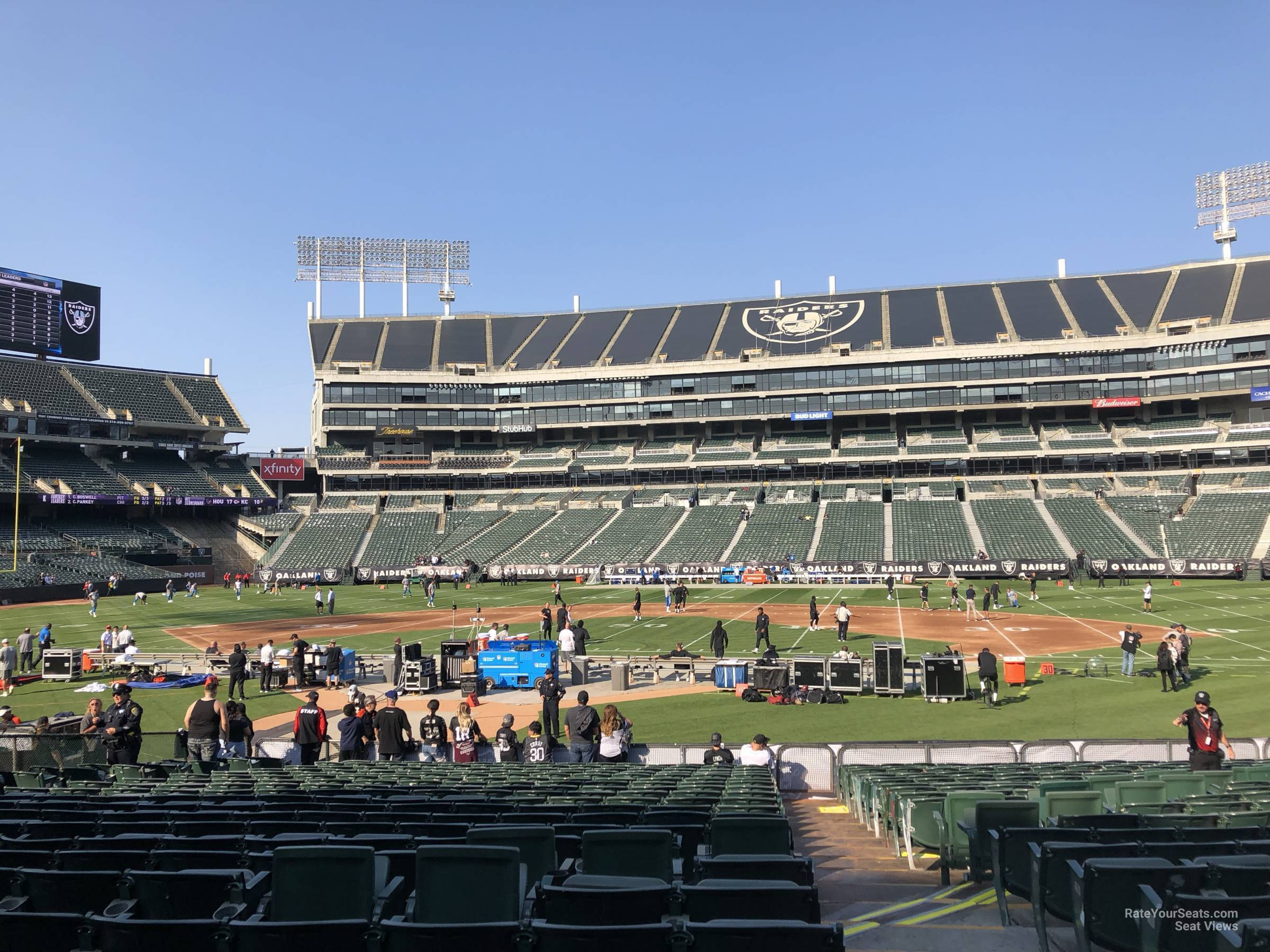 Oakland Raiders Seat View for Oakland Coliseum Section 115, Row 15