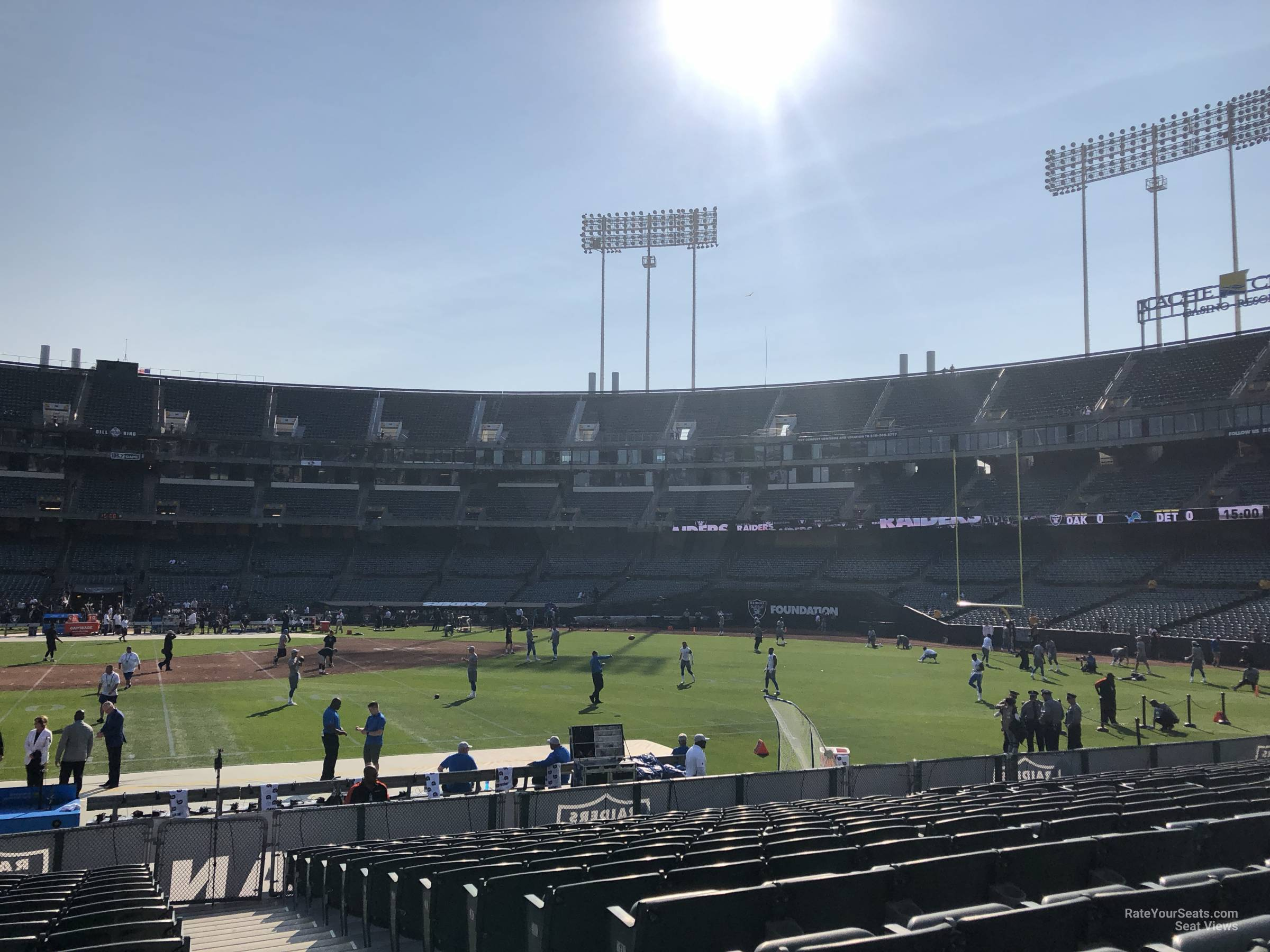 Oakland Raiders Seat View for Oakland Coliseum Section 141, Row 15