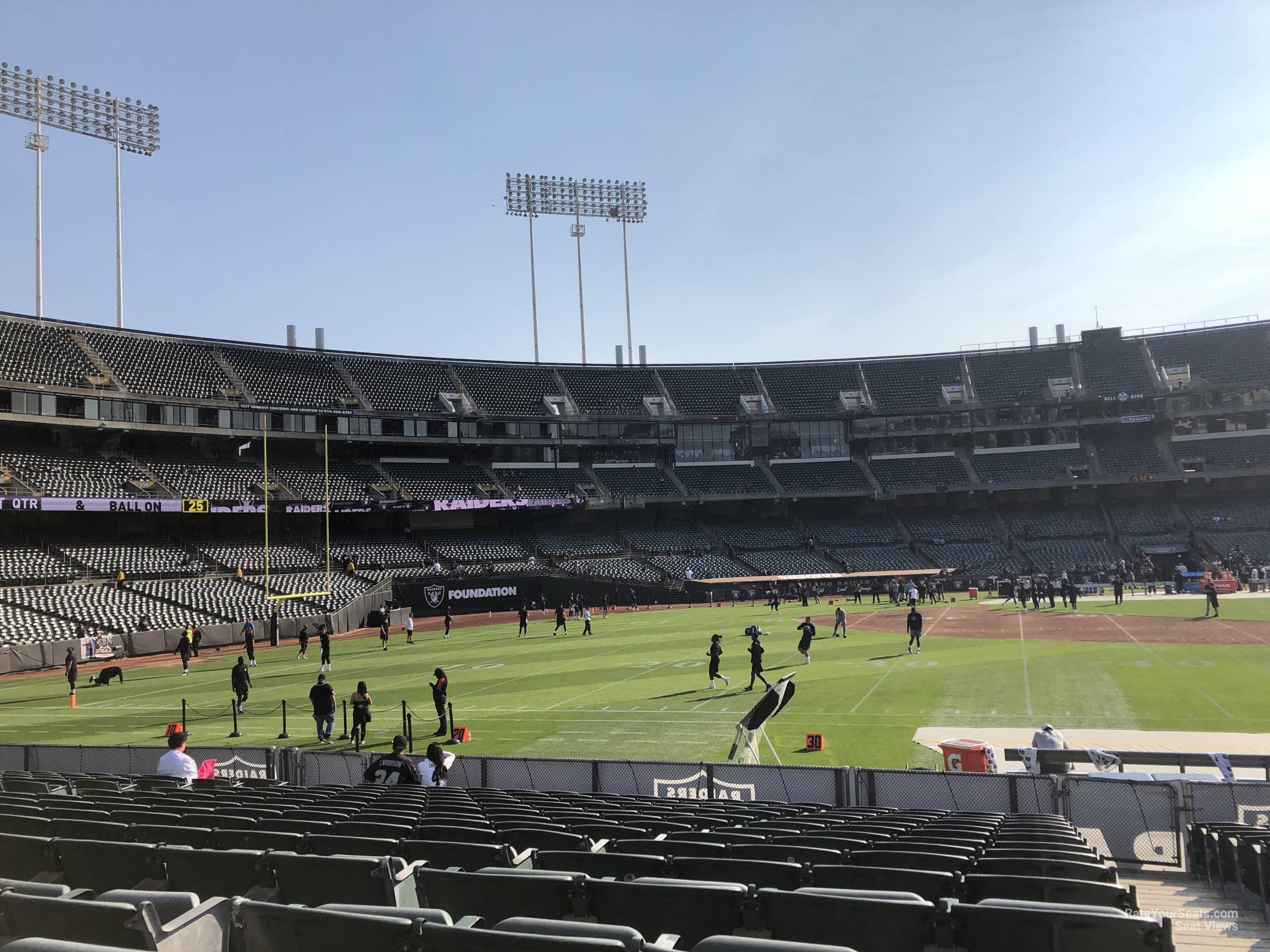Oakland Raiders Seat View for Oakland Coliseum Section 143, Row 15
