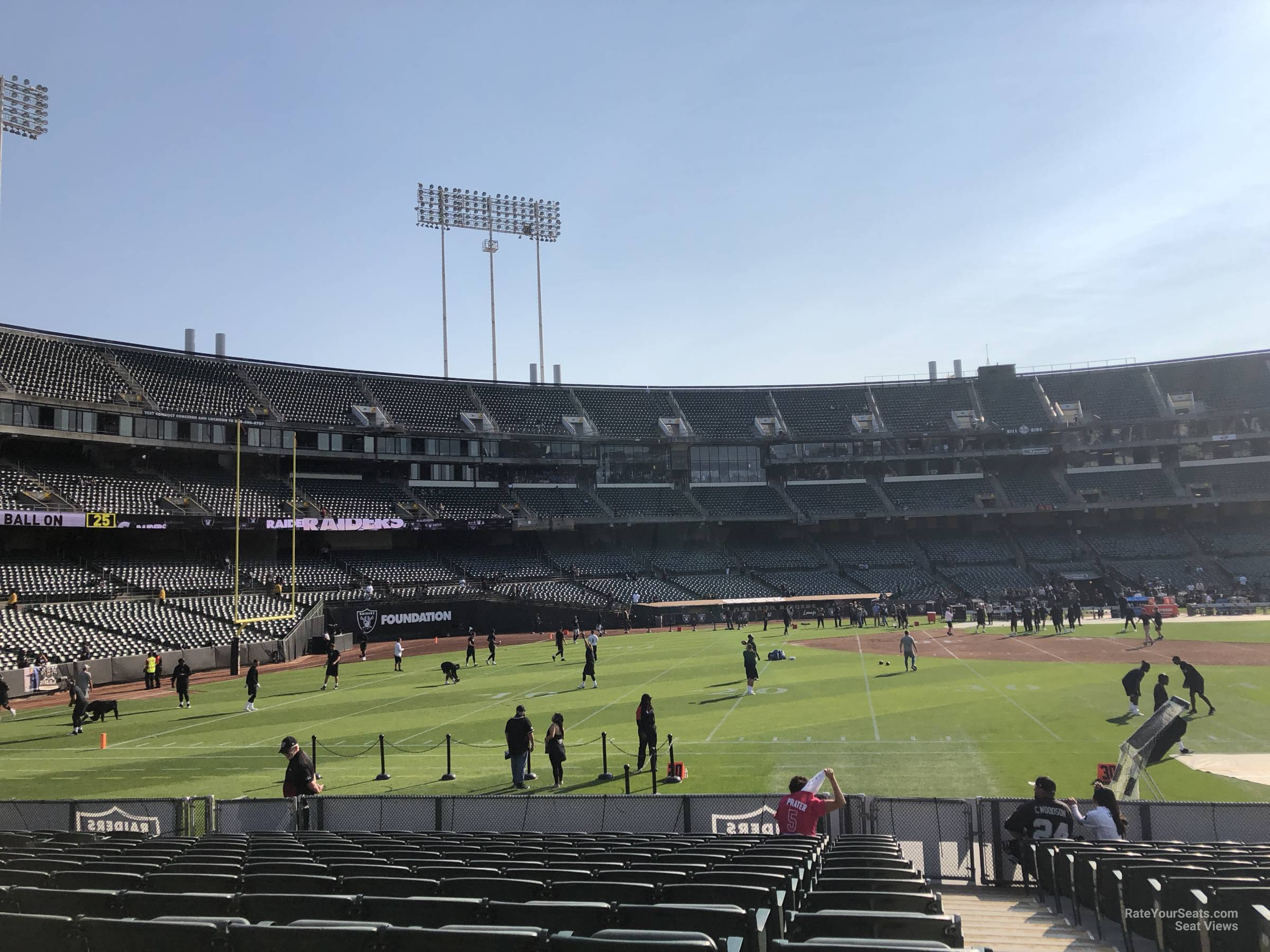 Oakland Raiders Seat View for Oakland Coliseum Section 144, Row 15
