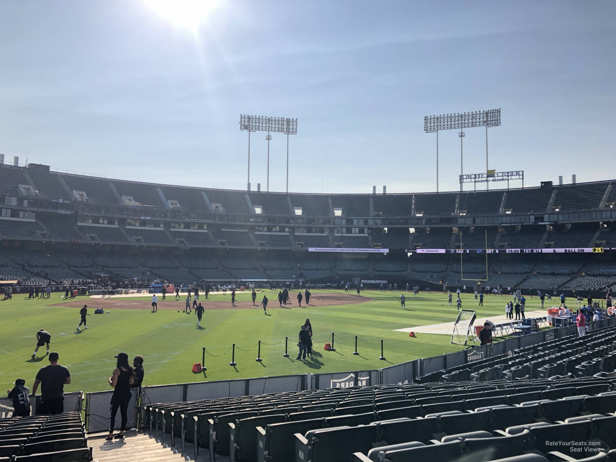Oakland Raiders Seat View for RingCentral Coliseum Section 148, Row 15