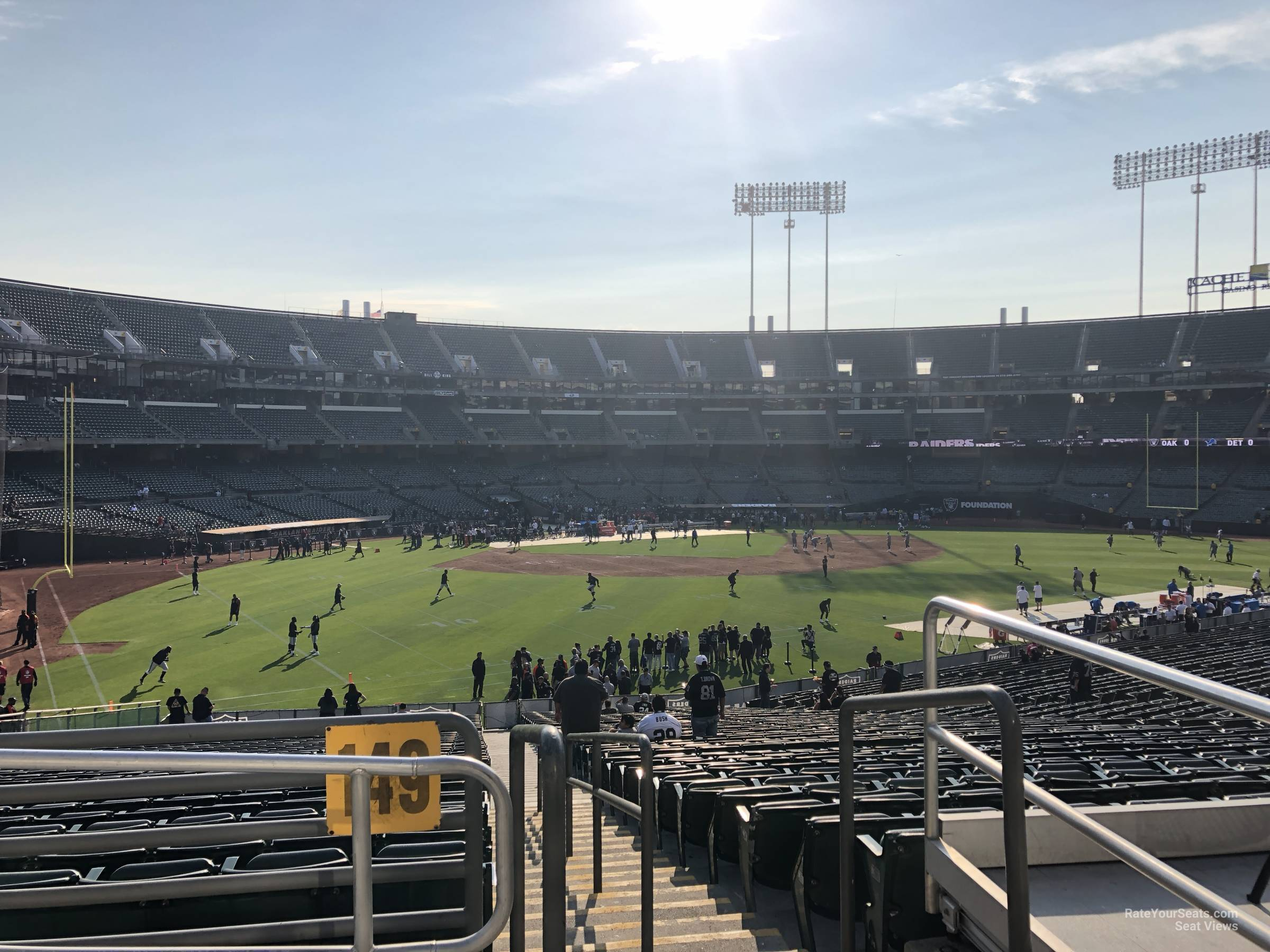 Oakland Raiders Seat View for RingCentral Coliseum Section 149, Row 40