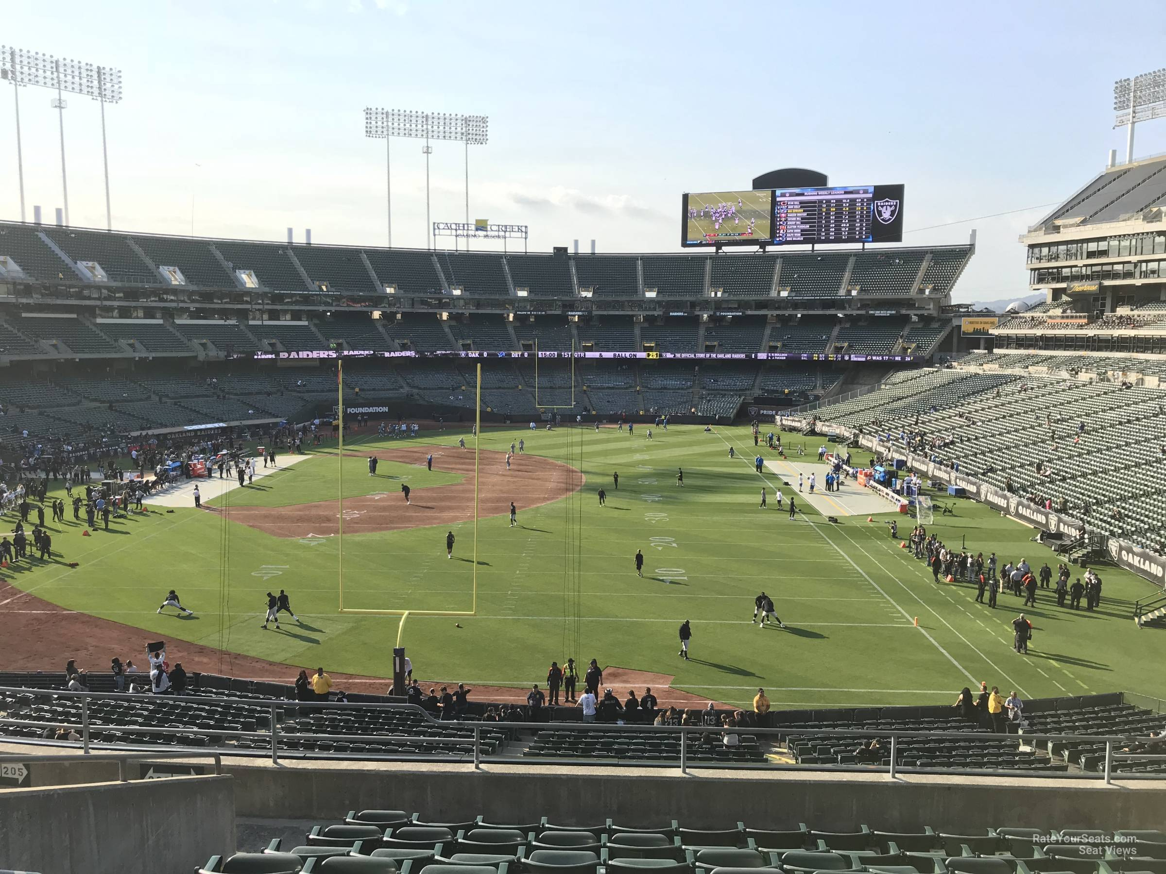 Oakland Raiders Seat View for RingCentral Coliseum Section 205, Row 10
