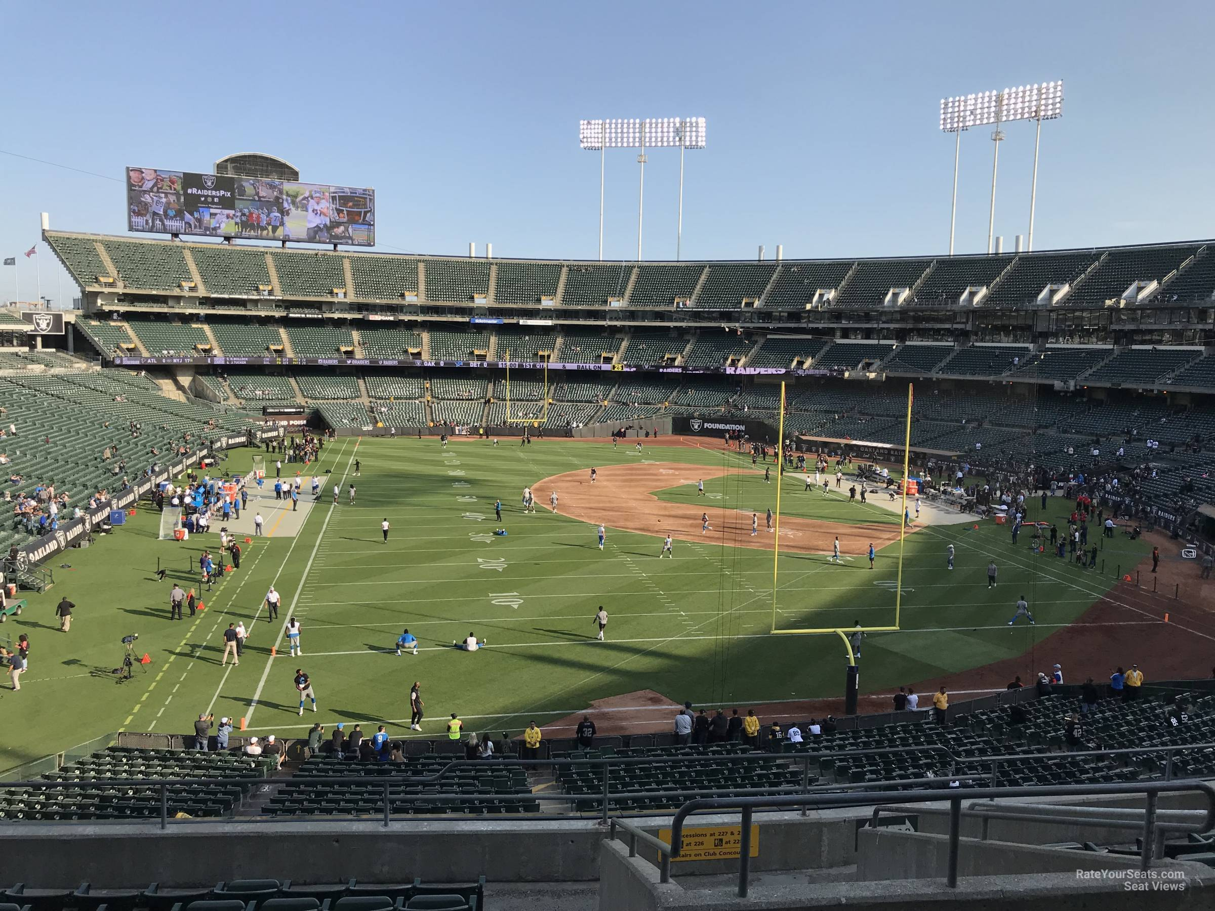 Oakland Raiders Seat View for RingCentral Coliseum Section 230, Row 10