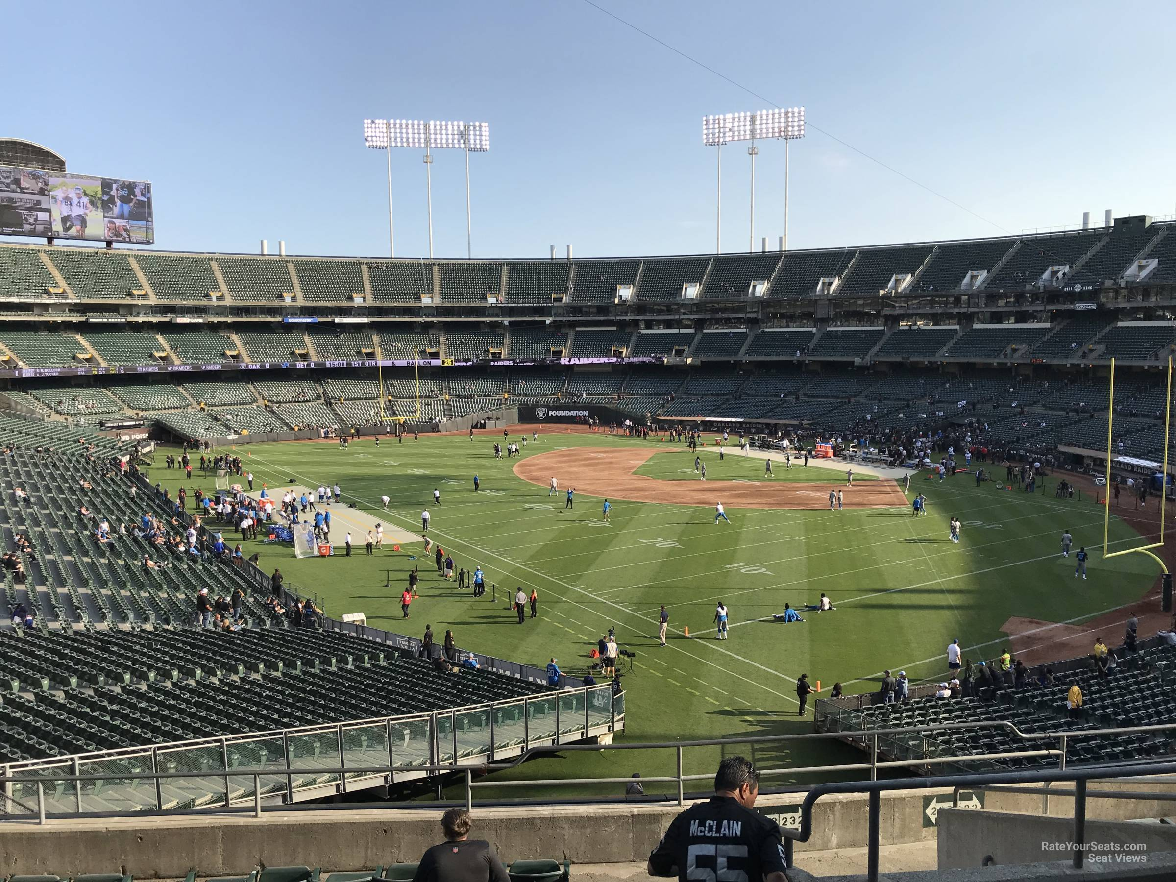 Oakland Raiders Seat View for RingCentral Coliseum Section 233, Row 10