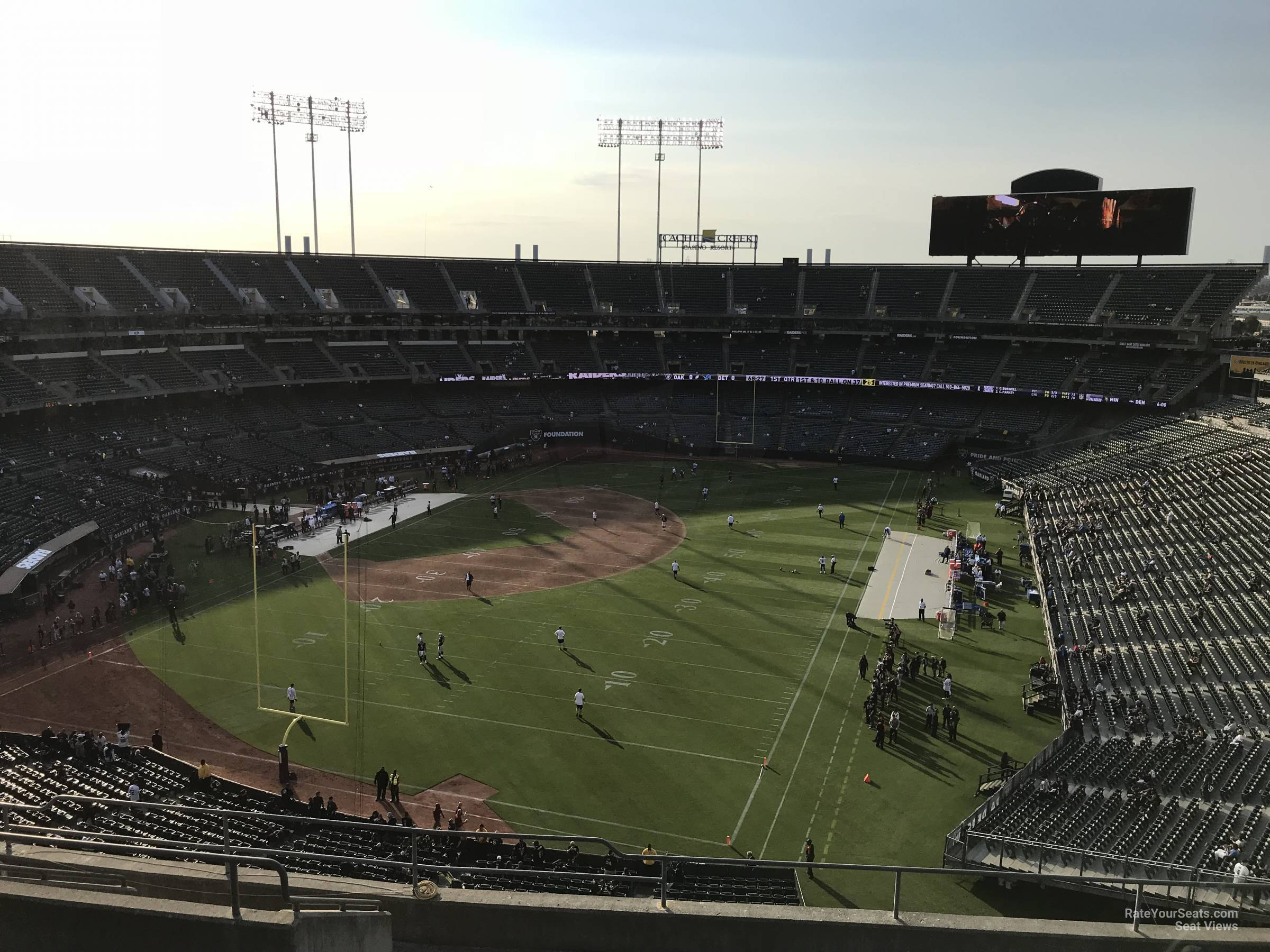 Oakland Raiders Seat View for RingCentral Coliseum Section 303, Row 9