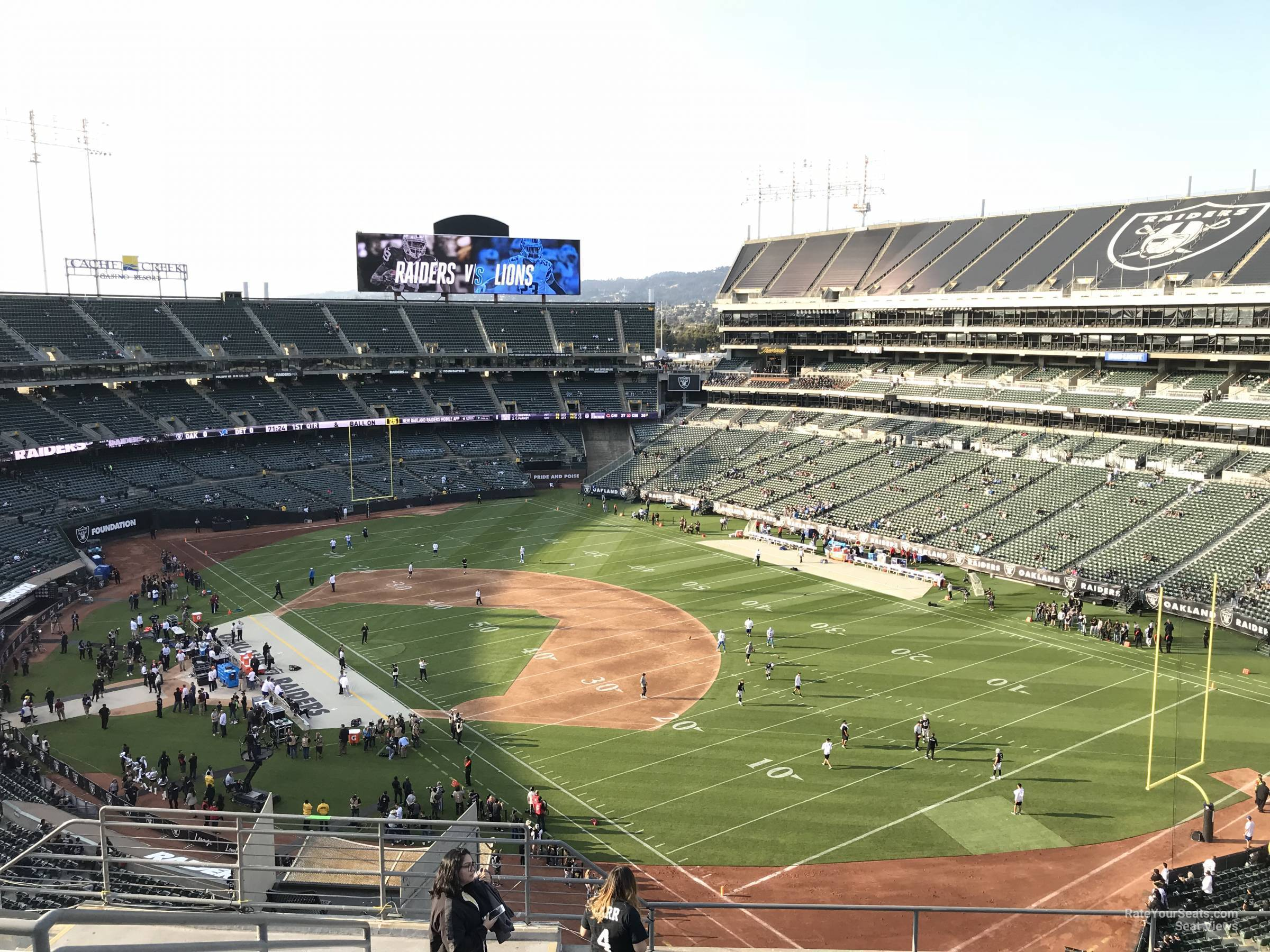 Oakland Raiders Seat View for RingCentral Coliseum Section 310, Row 9