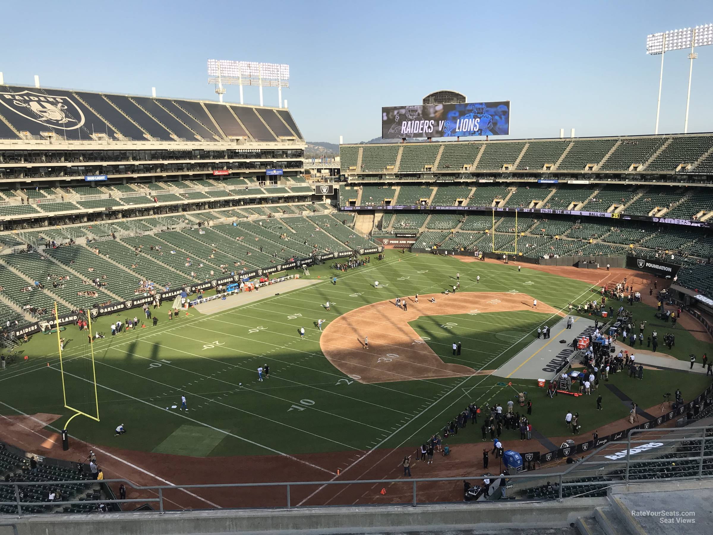 Oakland Raiders Seat View for RingCentral Coliseum Section 324, Row 9
