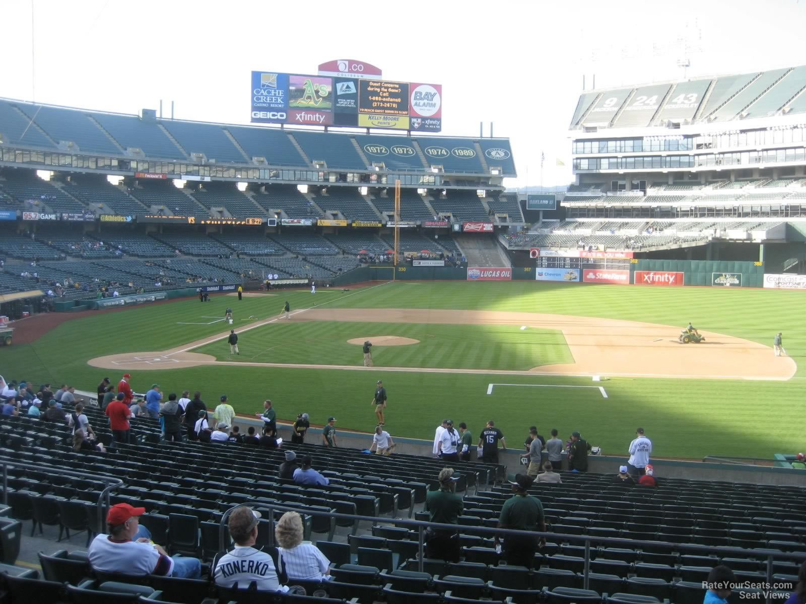 Oakland Athletics Seat View for Oakland Coliseum Section 112, Row 30