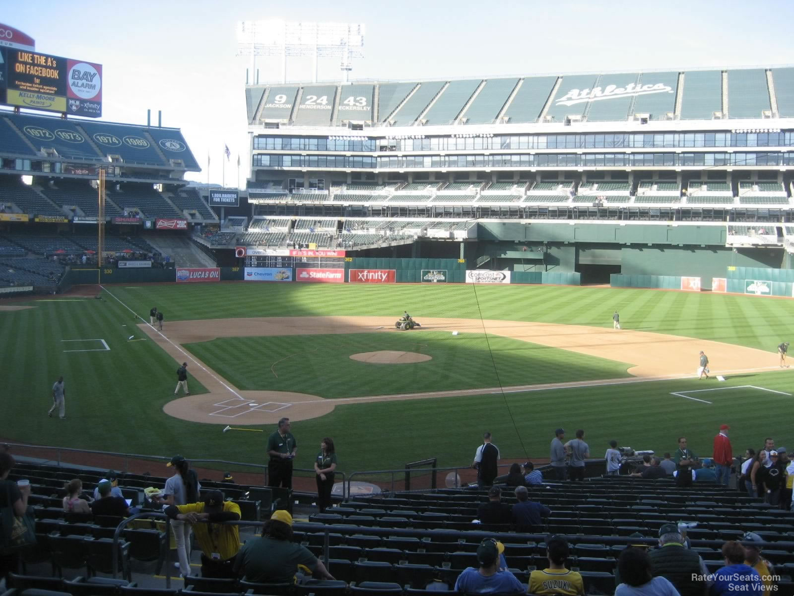 Oakland Athletics Seat View for Oakland Coliseum Section 115