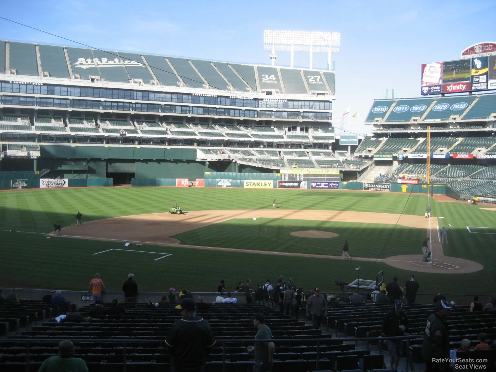 Oakland Athletics Seat View for Oakland Coliseum Section 120, Row 30