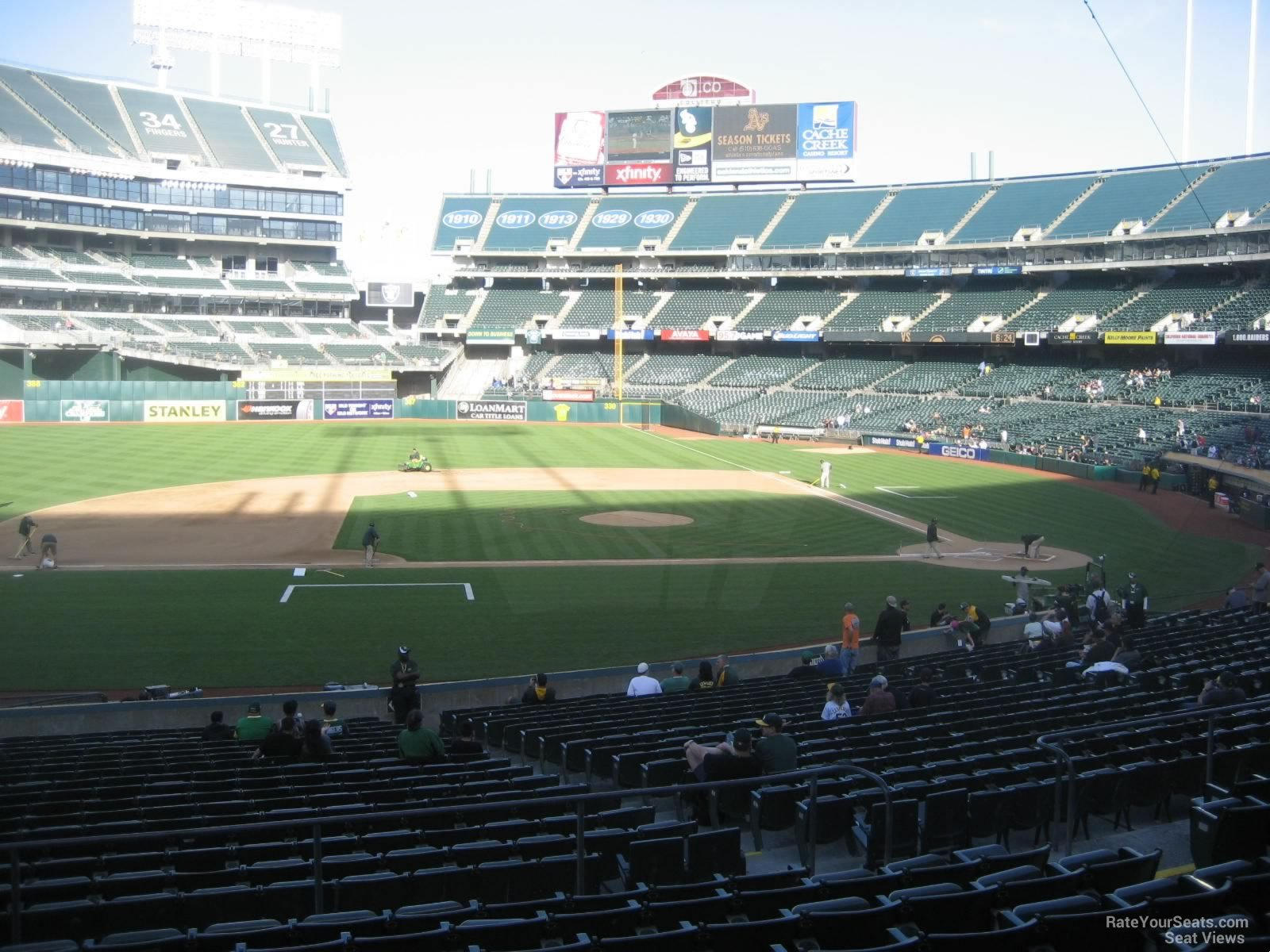 Oakland Athletics Seat View for Oakland Coliseum Section 122, Row 30