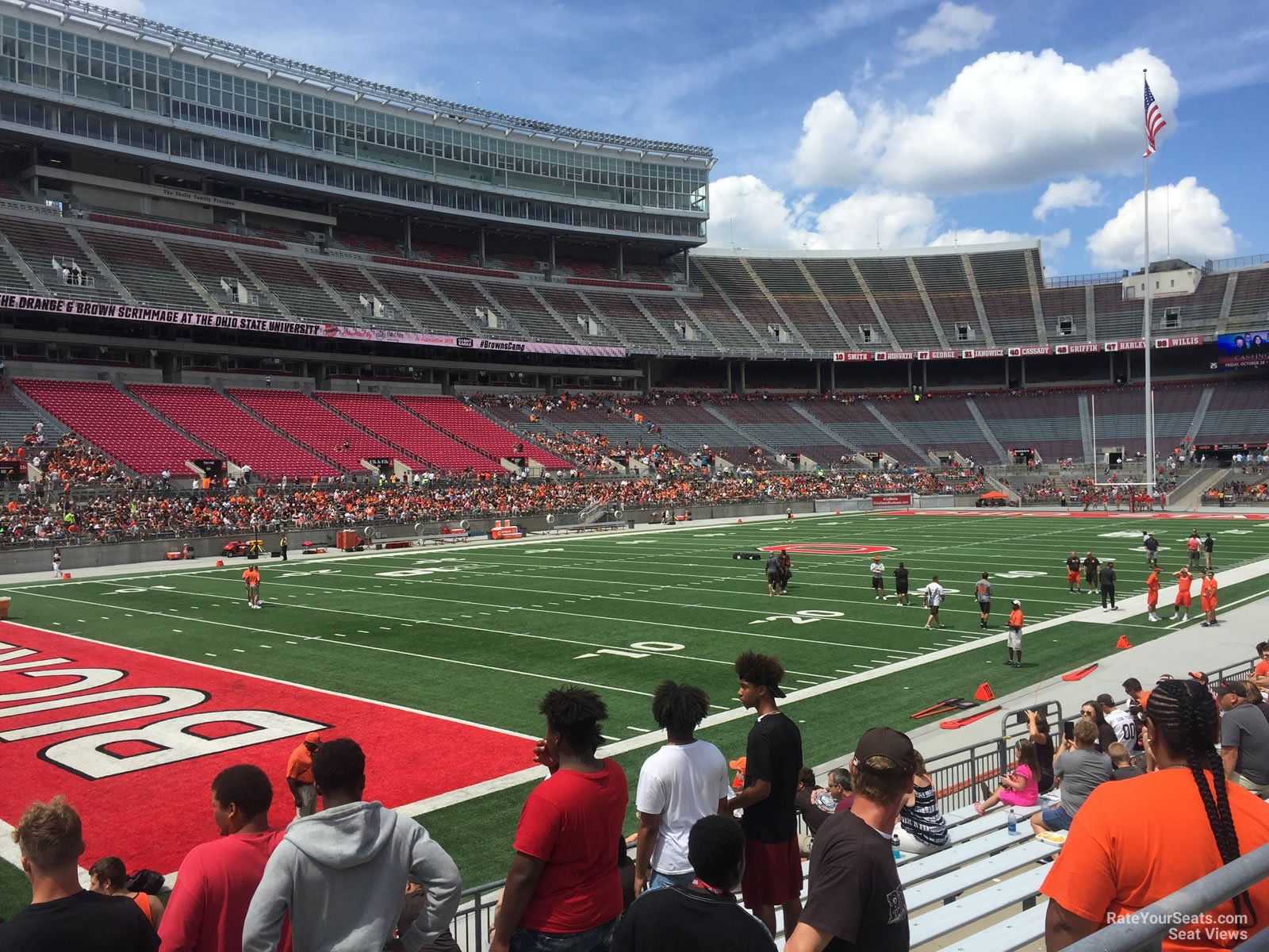 ohio stadium section 28aa rateyourseats com
