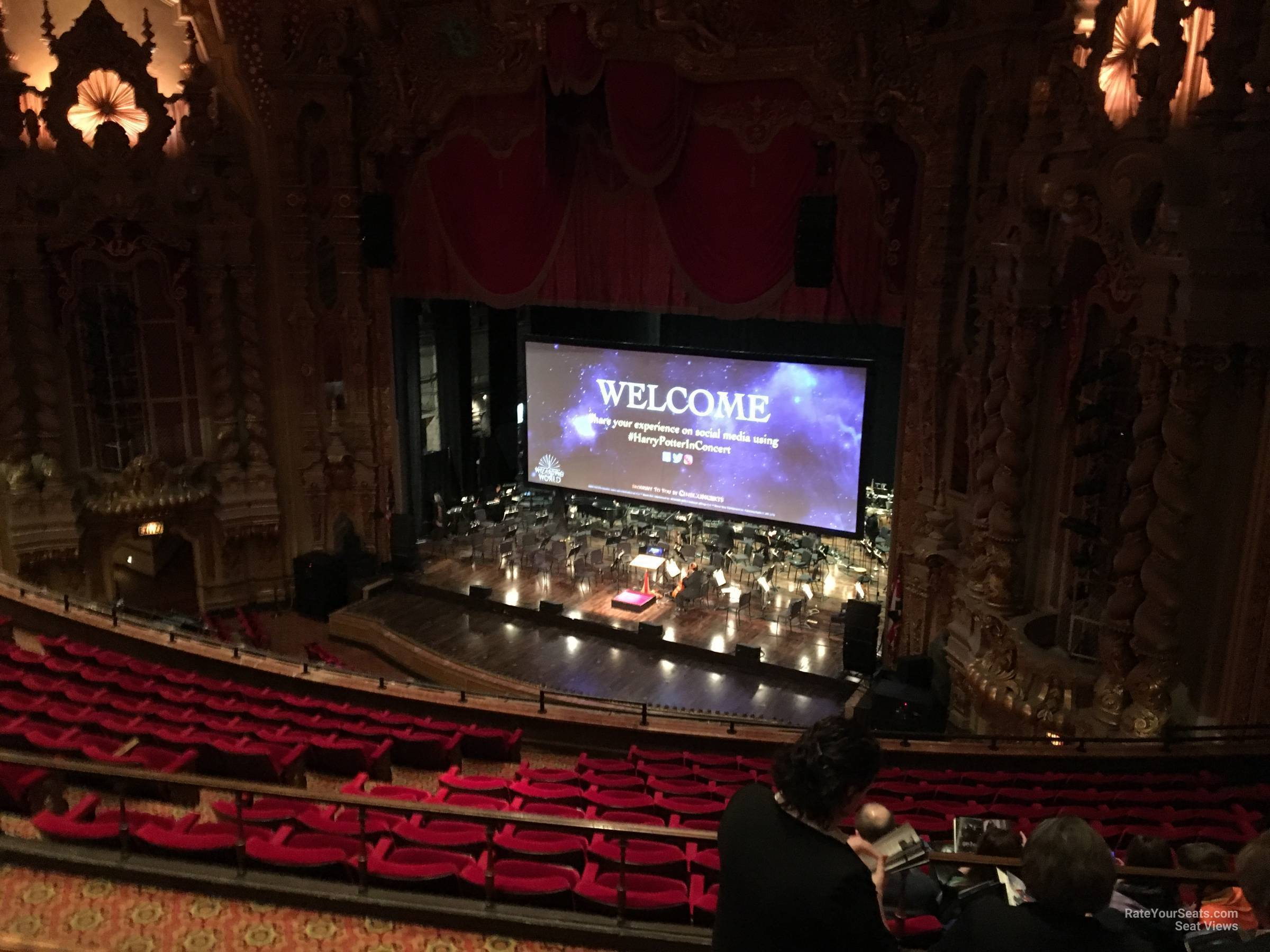 Seat View for Ohio Theatre Mezzanine A, Row D
