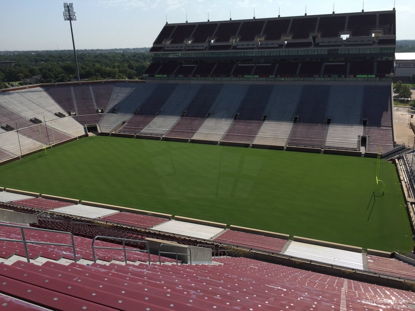 Oklahoma Memorial Stadium Section 102 Rateyourseats Com