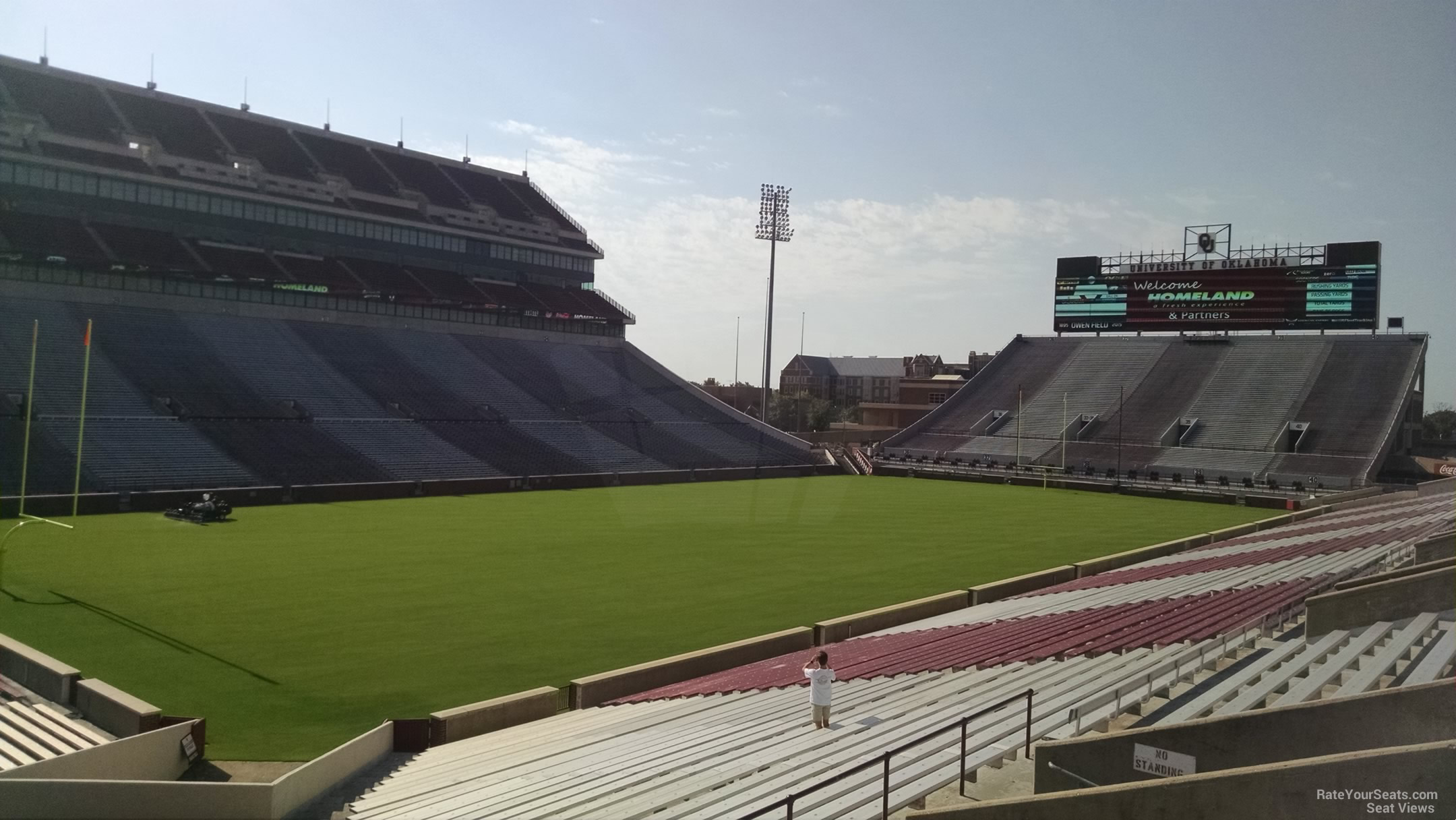 Seat View for Oklahoma Memorial Stadium Section 12, Row 40