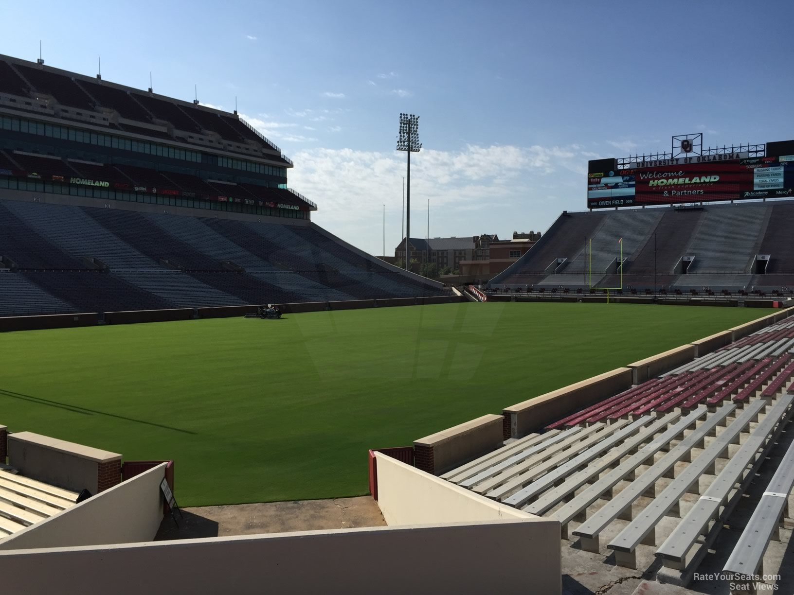 Seat View for Oklahoma Memorial Stadium Section 13, Row 20