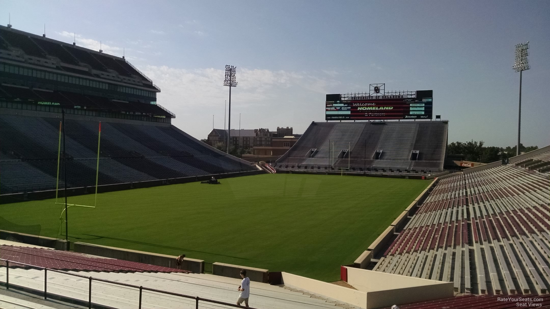 Seat View for Oklahoma Memorial Stadium Section 15, Row 40