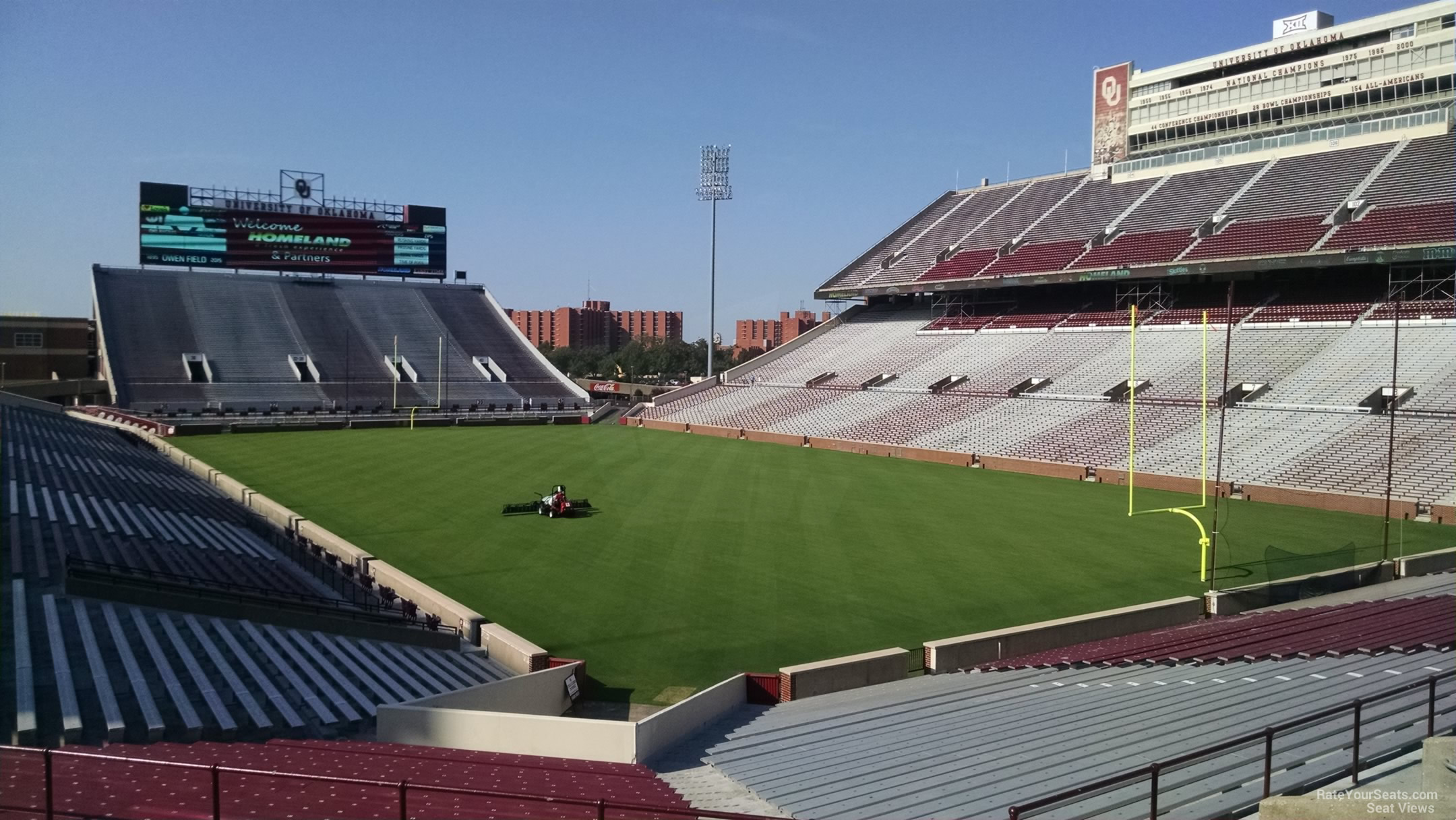 Seat View for Oklahoma Memorial Stadium Section 22, Row 40
