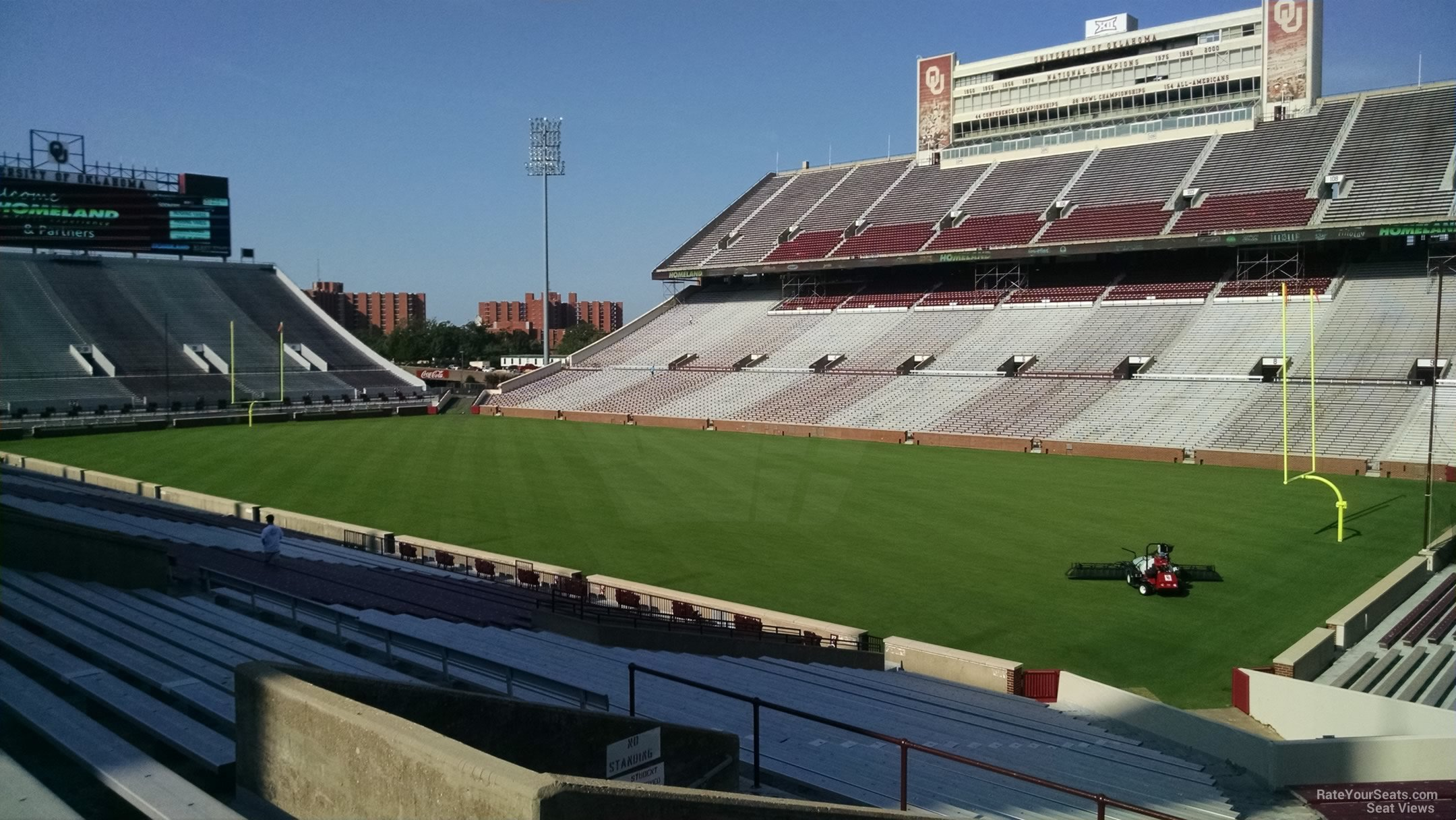 Seat View for Oklahoma Memorial Stadium Section 25, Row 40